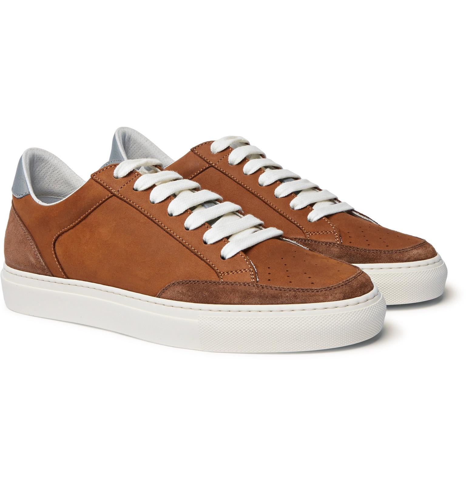 Crono Suede And Full-grain Leather Sneakers Brunello Cucinelli 3bJ35Vx5hr