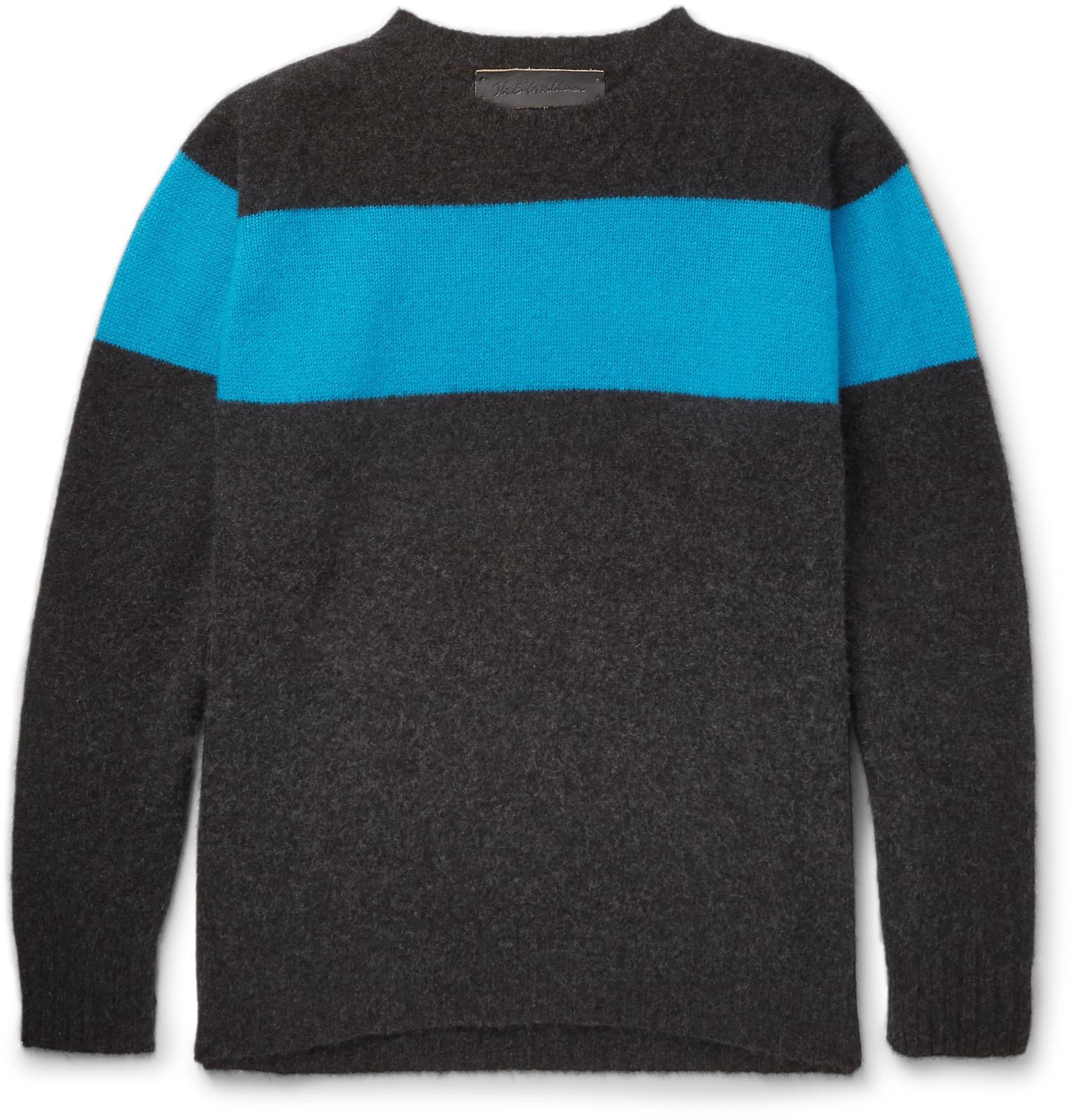 Men's The Black Elder Striped Cashmere Sweater Statesman FZZEwqxA