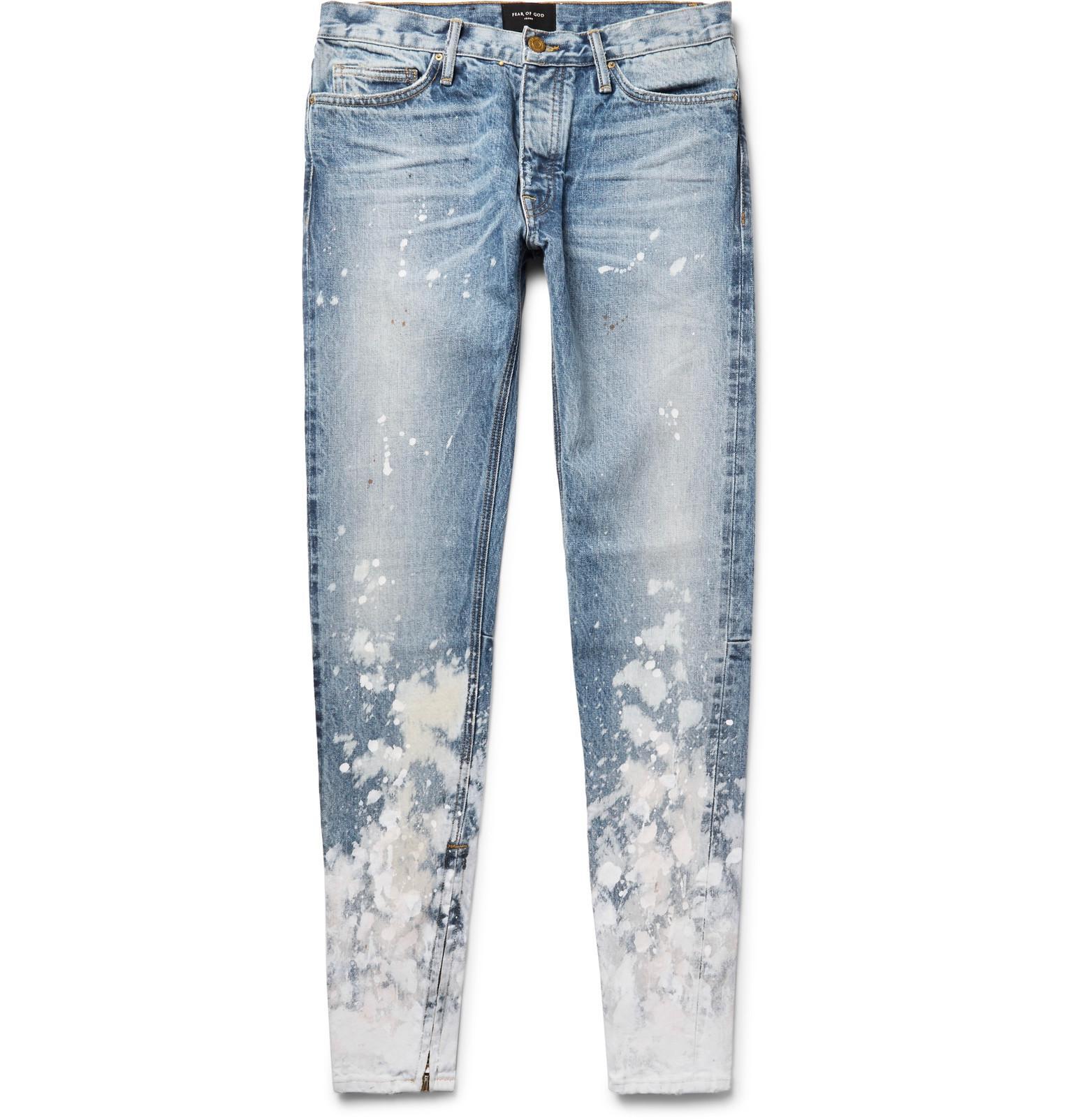 Cremallera God Con Mezclilla Detalle De Jeans Pantalón En El Falso FxqwC