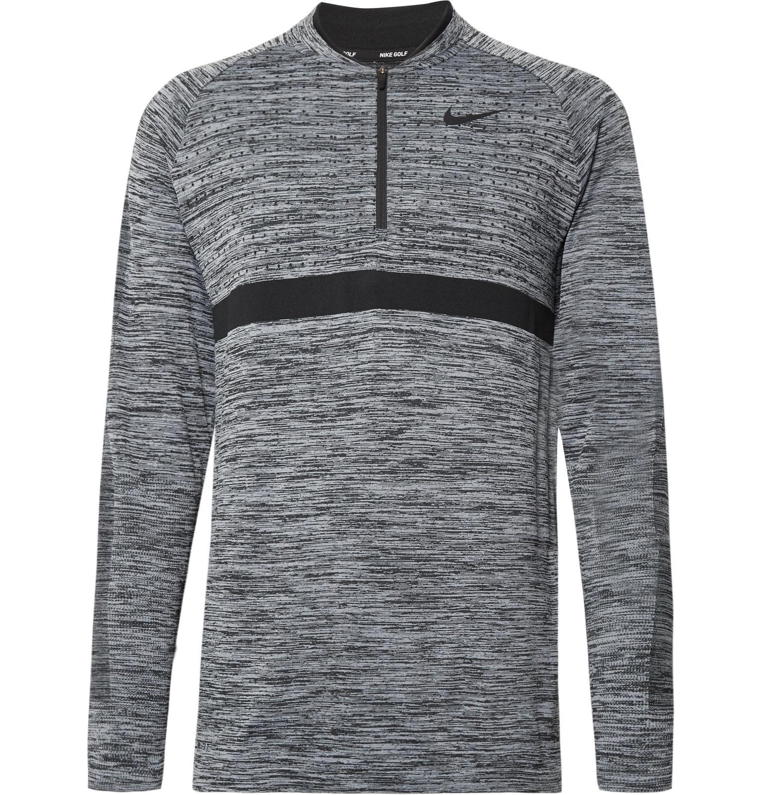 191a773fc74a Lyst - Nike Mélange Dri-fit Half-zip Golf Top in Gray for Men