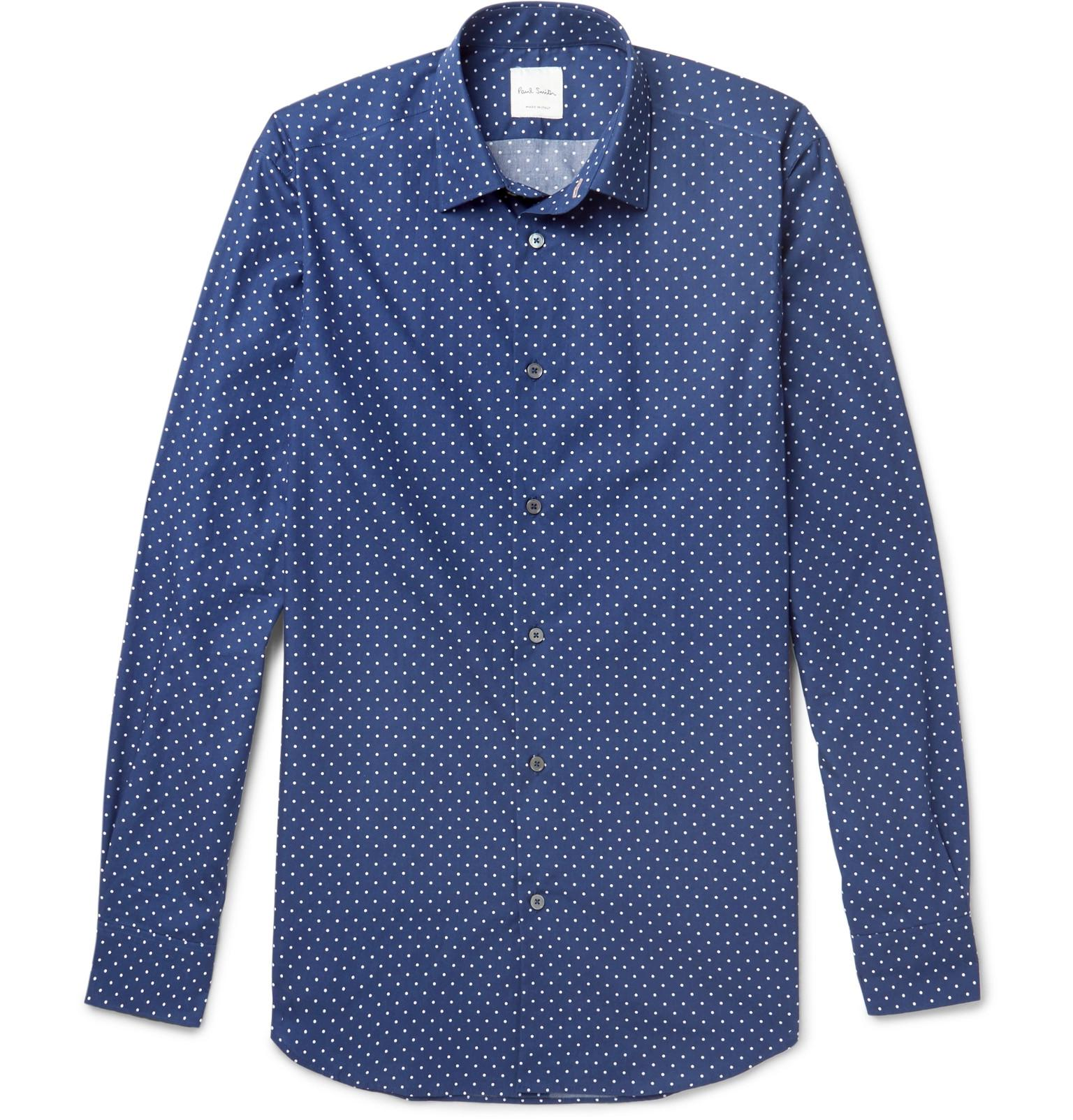 lyst paul smith soho slim fit cutaway collar polka dot