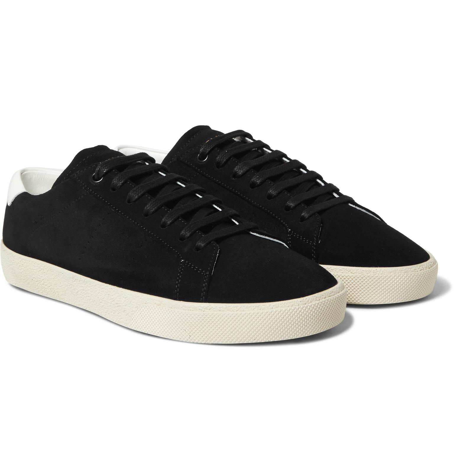 Court Trimmed Lyst Laurent Leather Sl06 Saint Suede Classic tAWpwqFSU