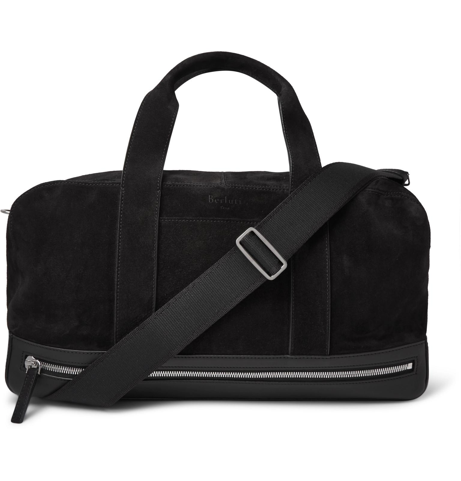 Leather-trimmed Suede Holdall Berluti VEn64Ti
