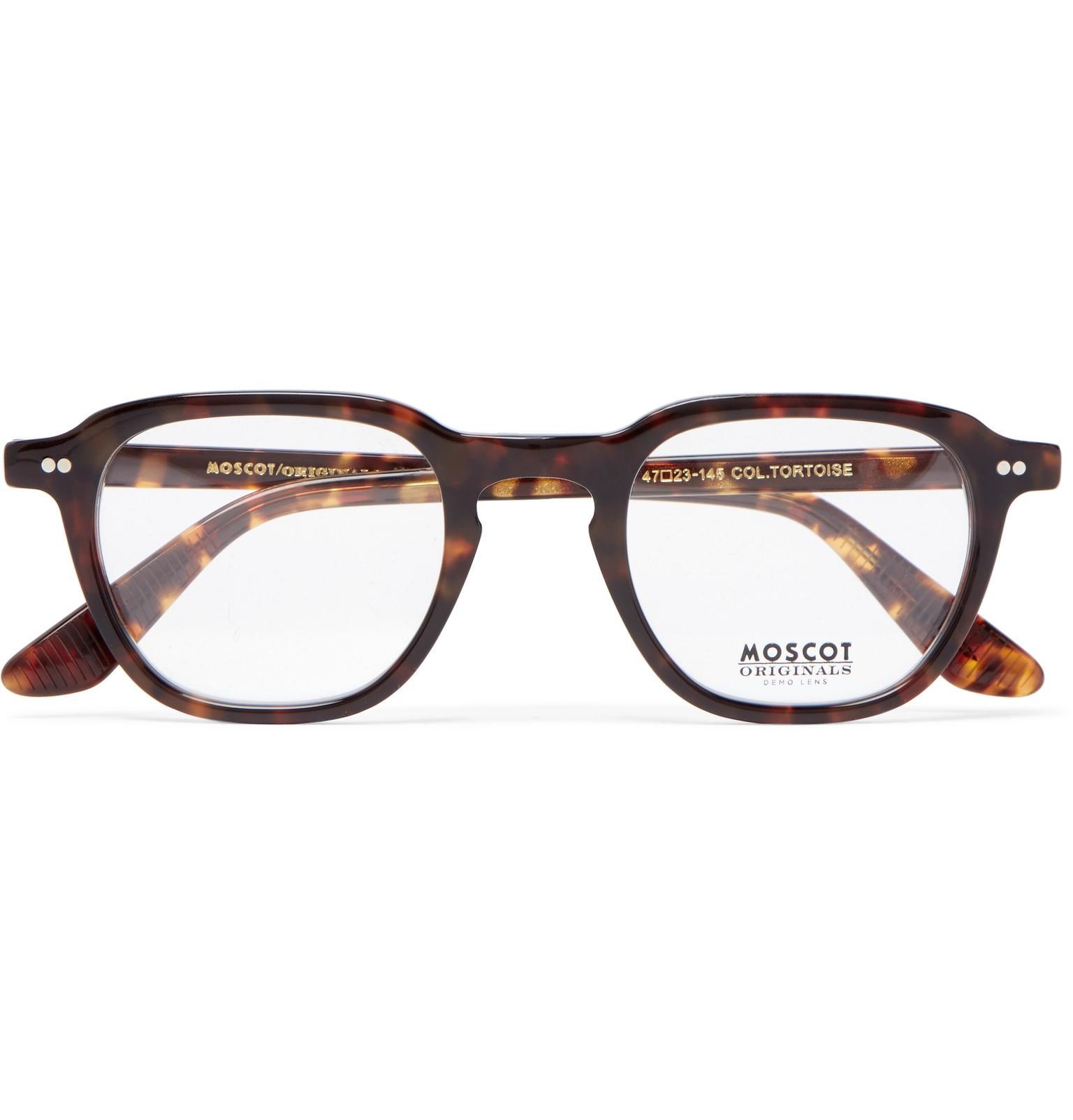 096986aadc40 Moscot Billik Round-frame Tortoiseshell Acetate Optical Glasses in ...