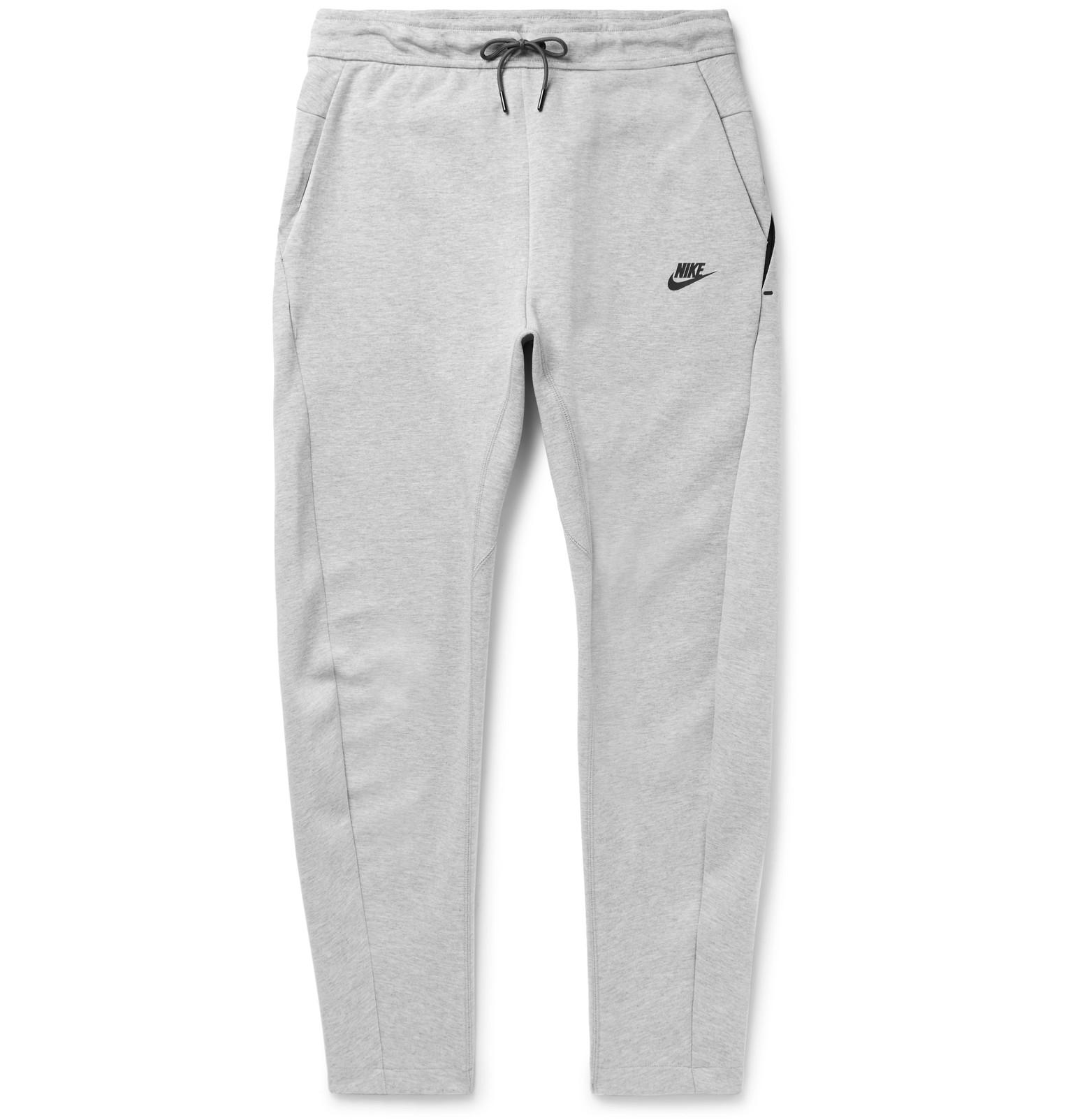 45e483c0fb8b Nike Slim-fit Cotton-blend Tech Fleece Sweatpants in Gray for Men - Lyst