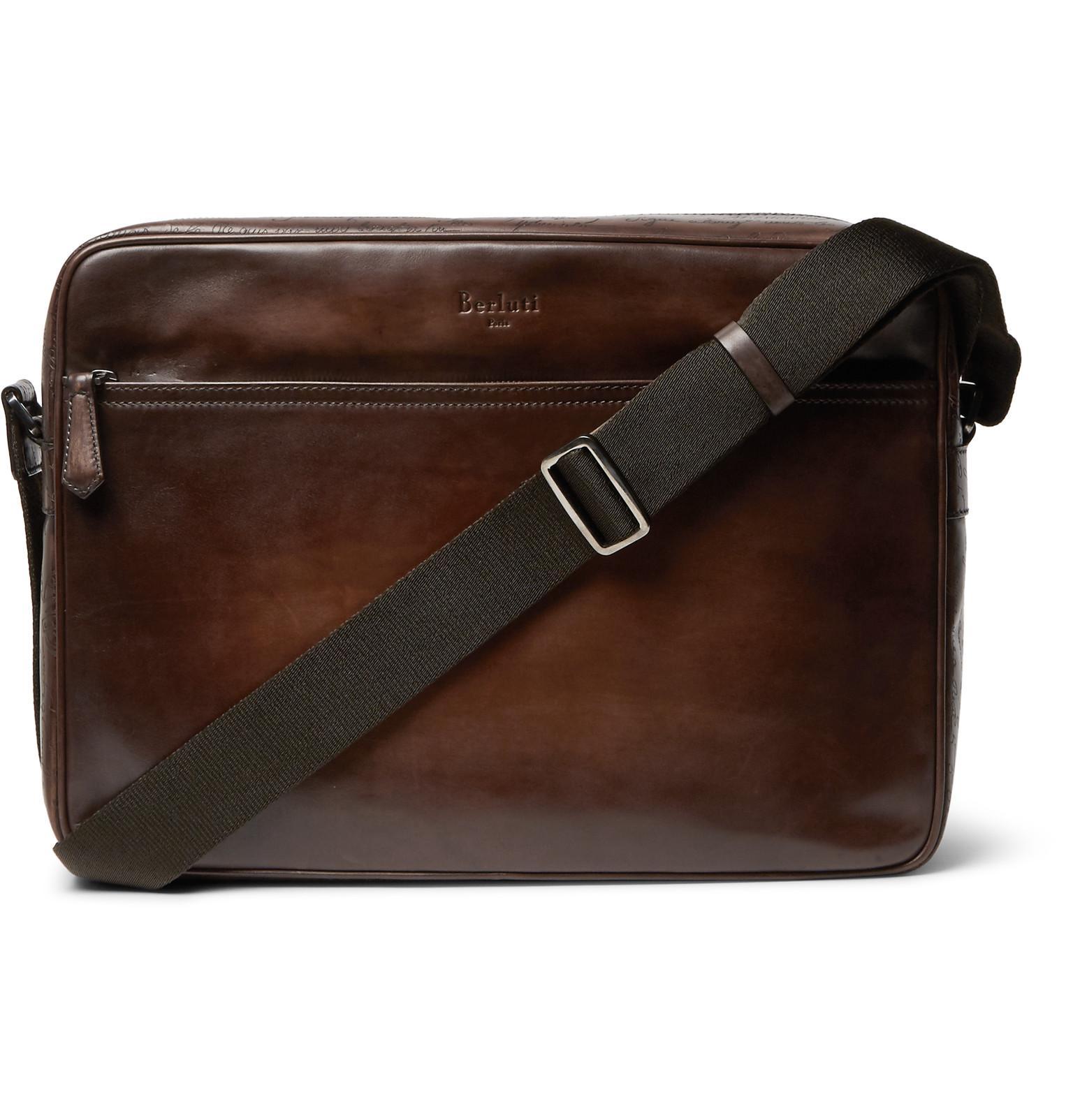 Monolithe Medium Leather Messenger Bag Berluti 2QHEG