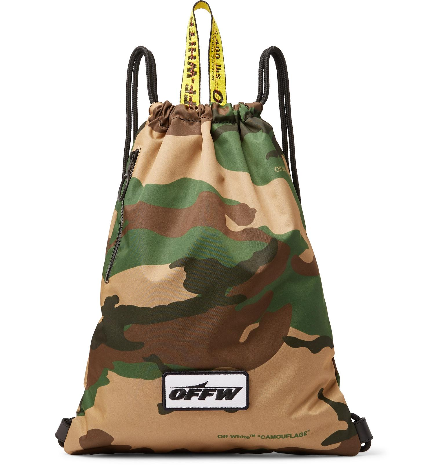 7a2b5976553b Lyst - Off-White c o Virgil Abloh Camouflage-print Shell Drawstring ...
