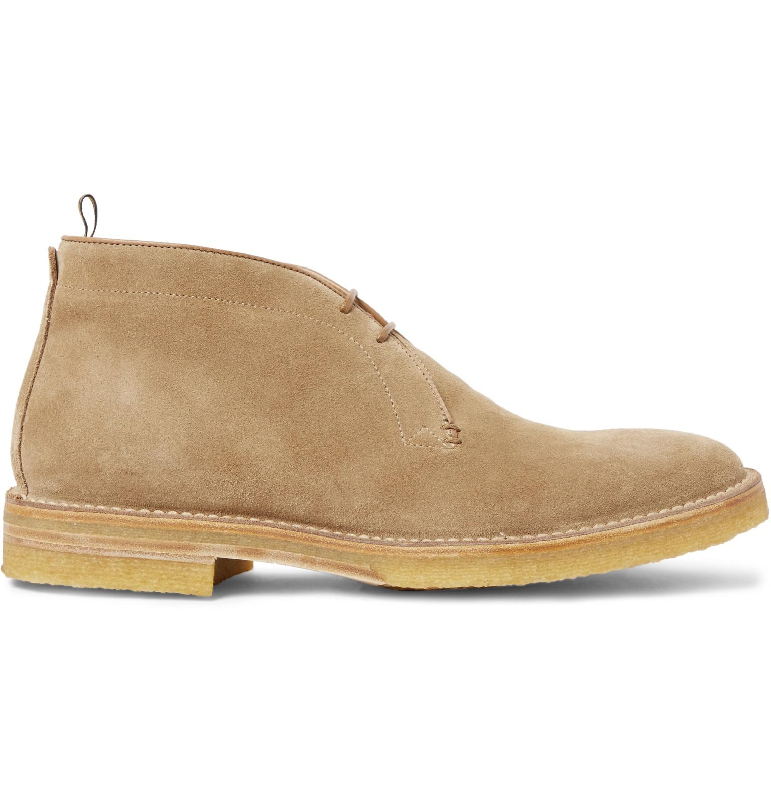 6341b6c535e7e7 Lyst - Dunhill Suede Chukka Boots in Natural for Men