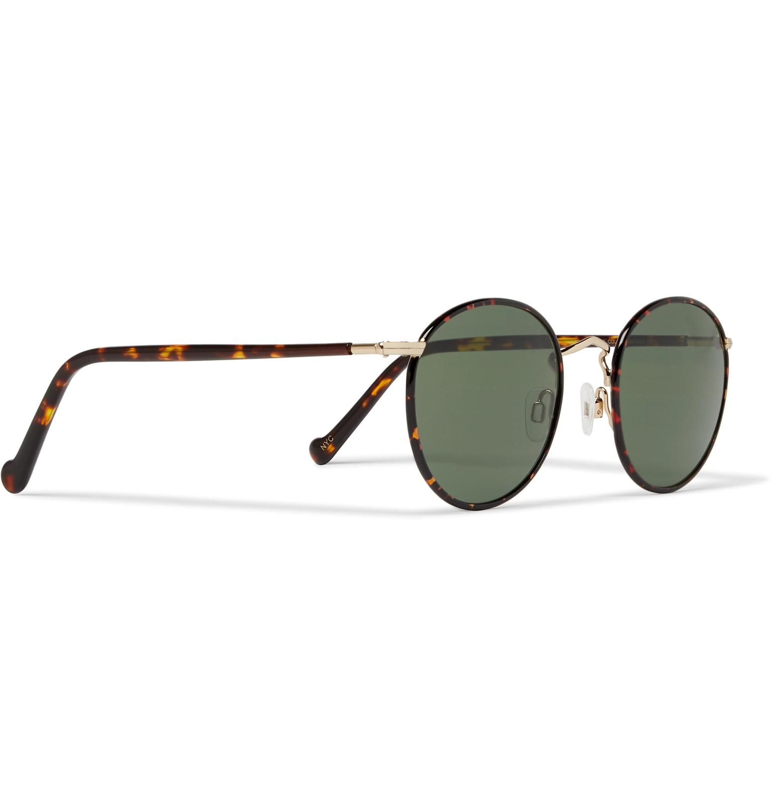 27a17fb961 Moscot - Multicolor Zev Round-frame Tortoiseshell And Gold-tone Titanium  Sunglasses for Men. View fullscreen