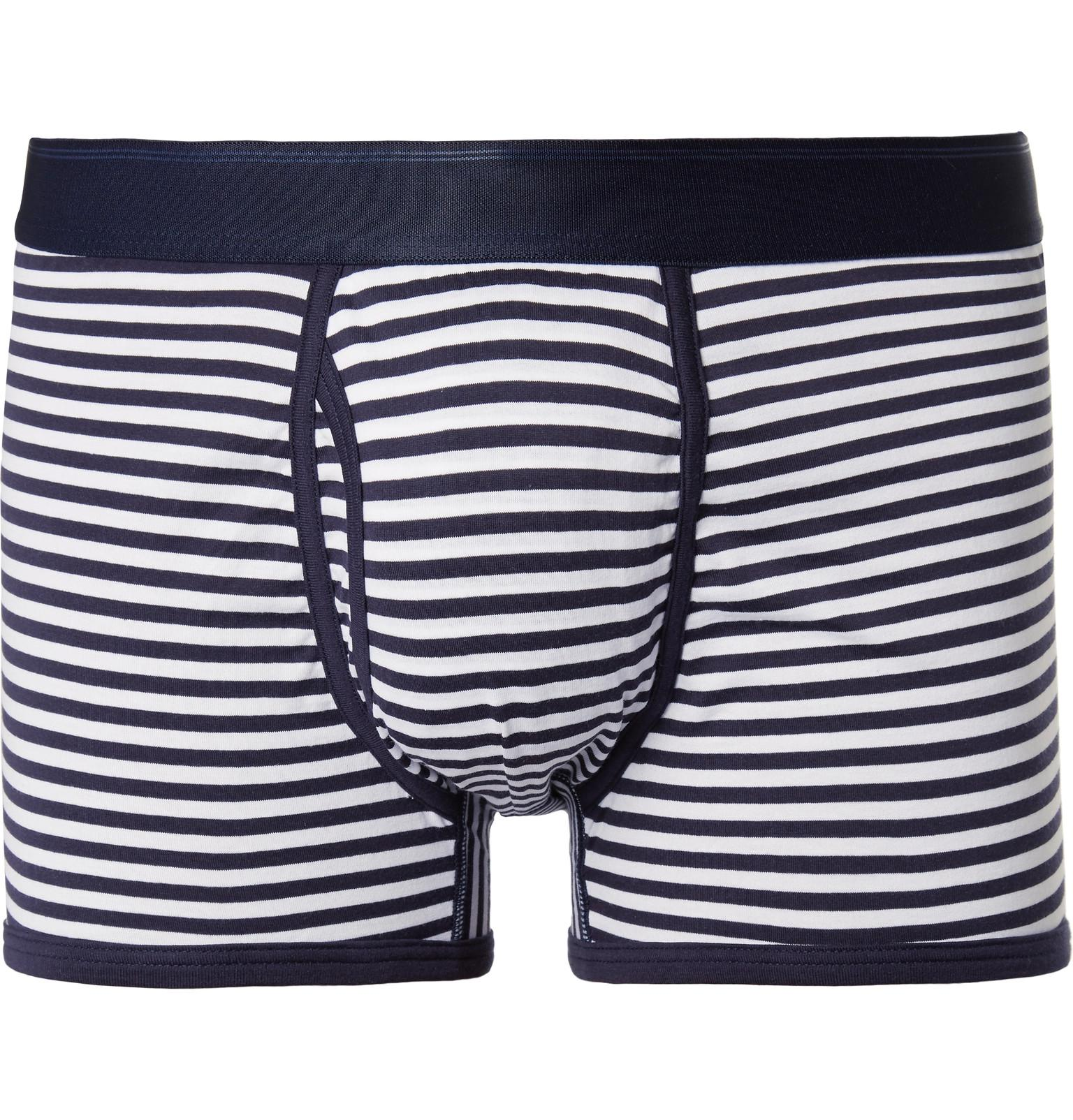 Classic Online Striped Cotton-jersey Boxer Briefs Sunspel Free Shipping Amazon Clearance Pick A Best 3iNaO7