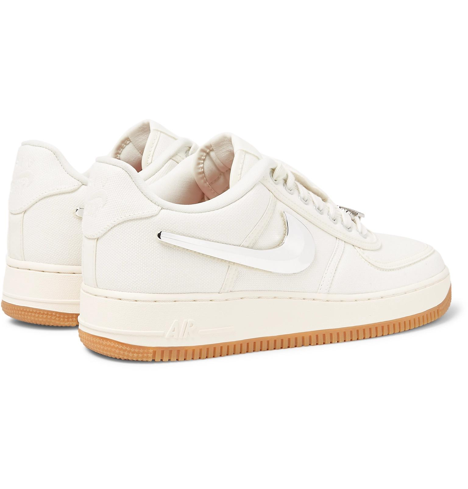 6380cec61a9c6d Nike + Travis Scott Air Force 1 Canvas Sneakers in White for Men - Lyst