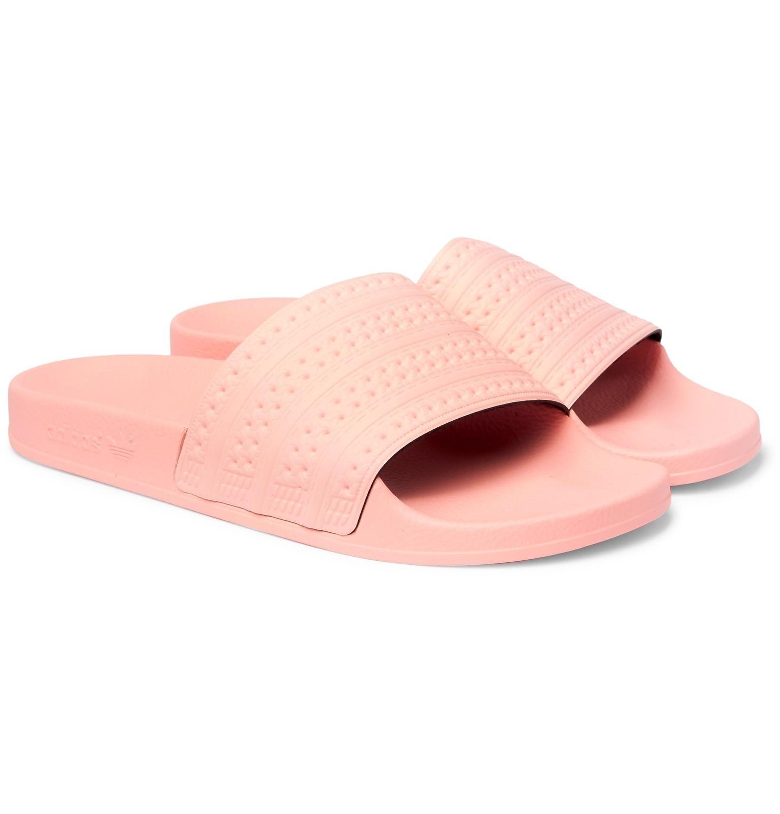da4446346d85 adidas Originals Adilette Textured-rubber Slides in Pink for Men - Lyst