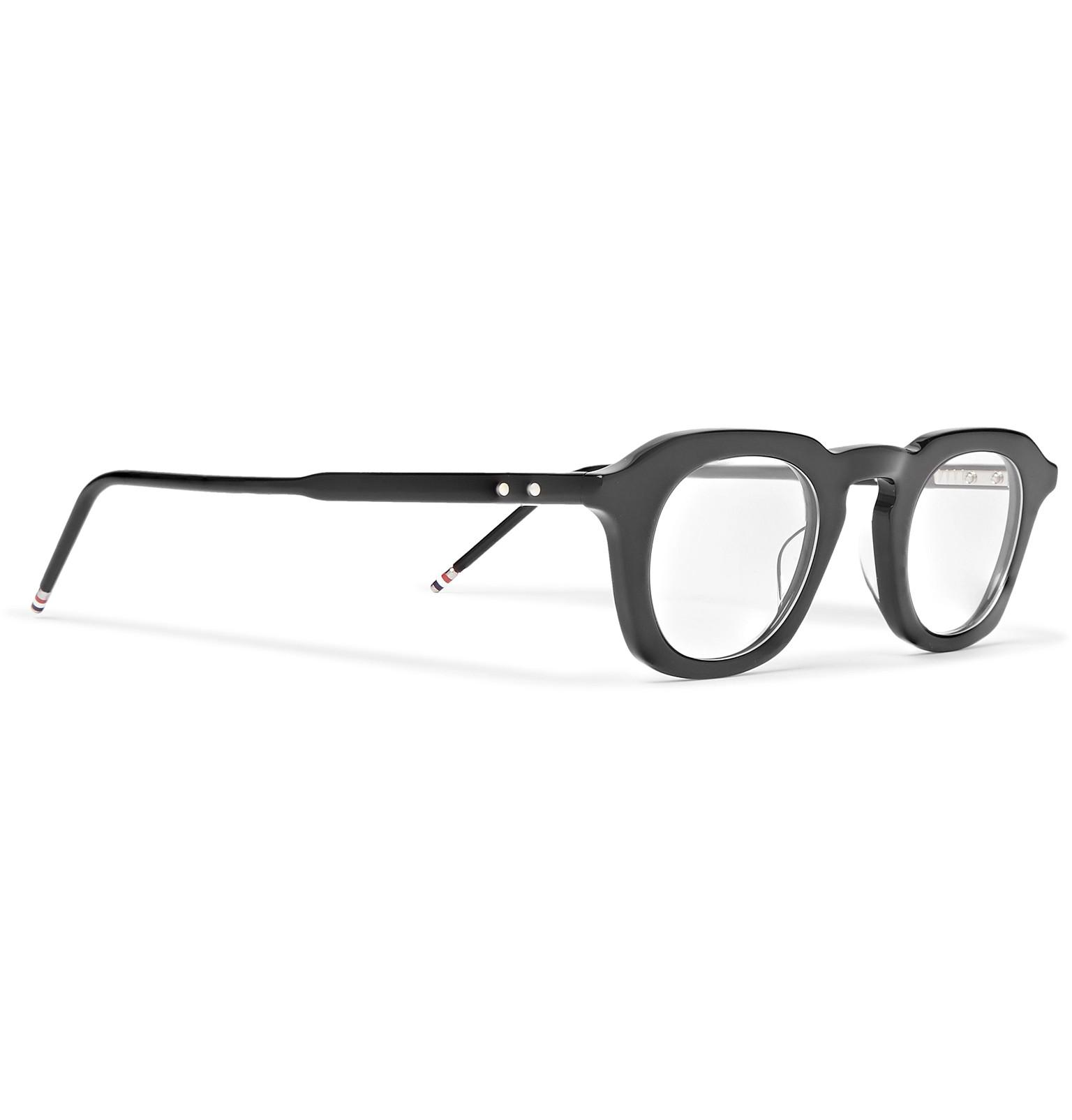 41a252202d8 Thom Browne - Black Square-frame Acetate Optical Glasses for Men - Lyst.  View fullscreen