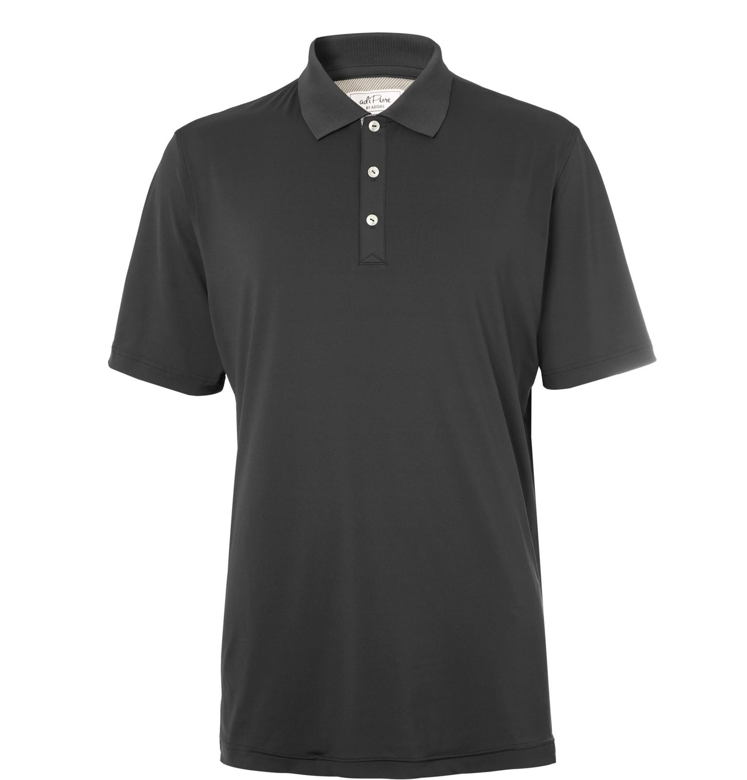 separation shoes ecfe5 6bd99 adidas Originals Adipure Stretch-jersey Golf Polo Shirt in Gray for ...