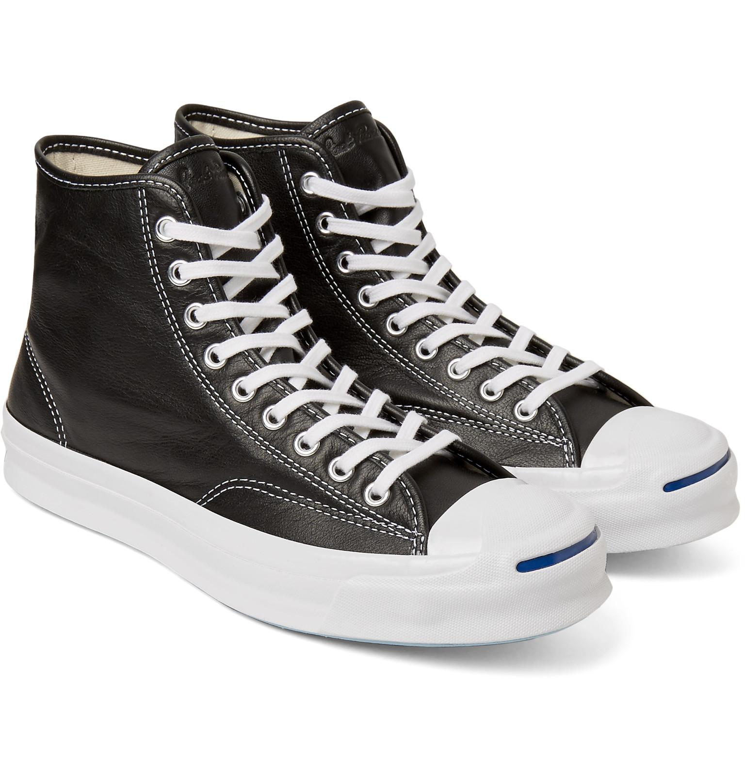 af5d635e0261b6 Lyst - Converse Jack Purcell Signature Leather High-top Sneakers in ...