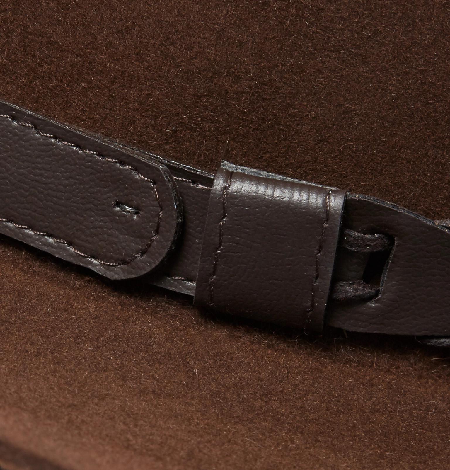 3f9b0a4ae23 Lyst - Kingsman + Stetson Jack s Statesman Leather-trimmed Felt Hat ...
