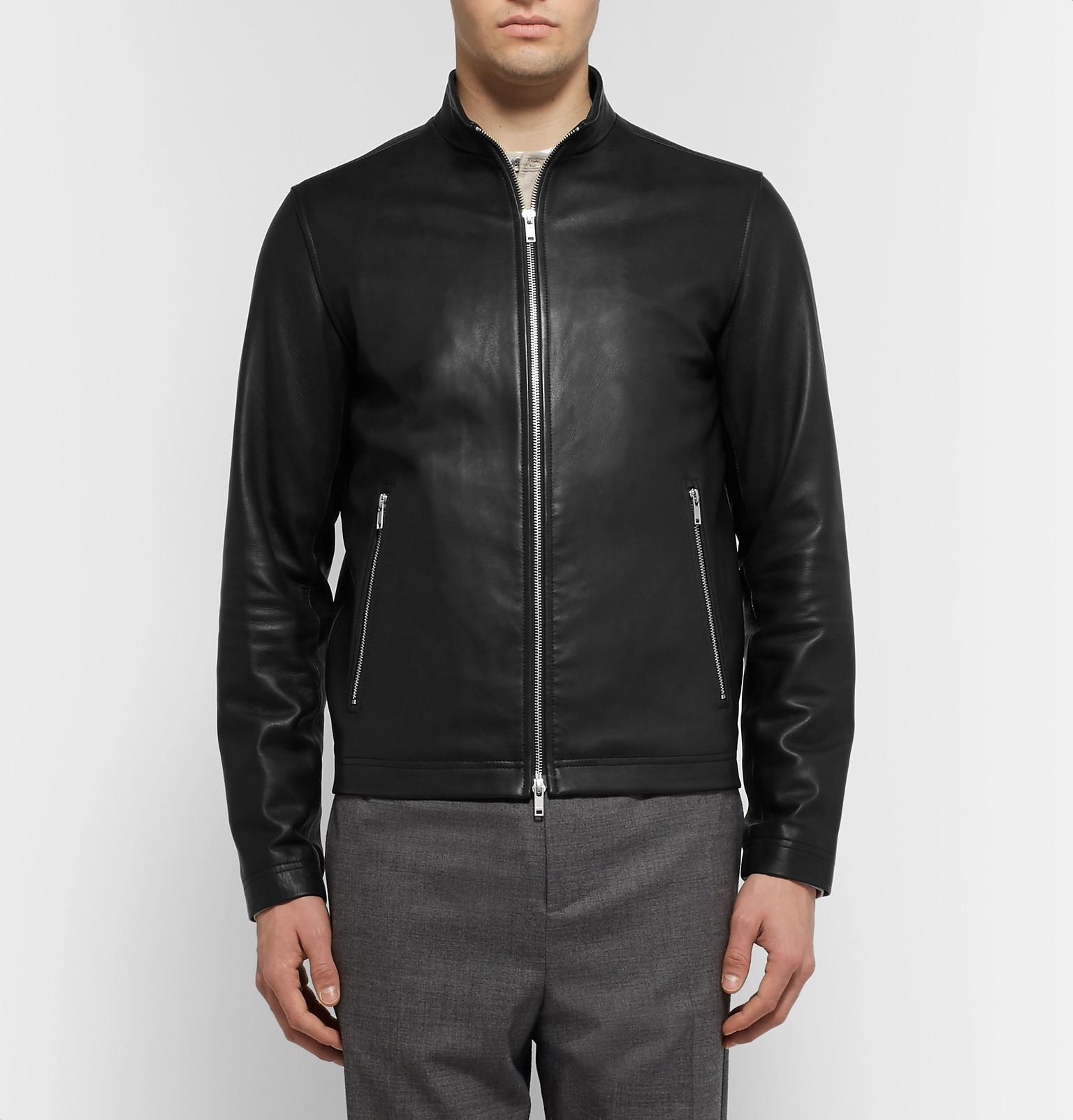 Racer Fullscreen Morvek Café Men Lyst Theory View Leather For Jacket Black 6vngxwt