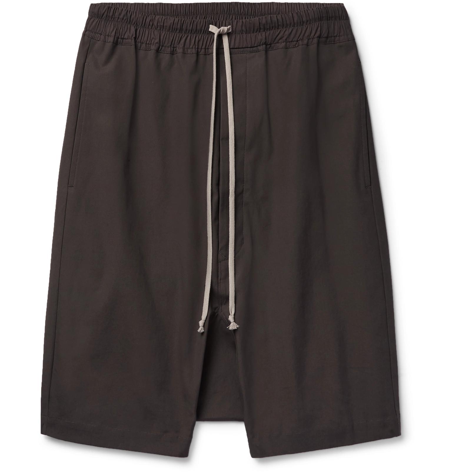 Pod Stretch-cotton Shorts Rick Owens ettINr