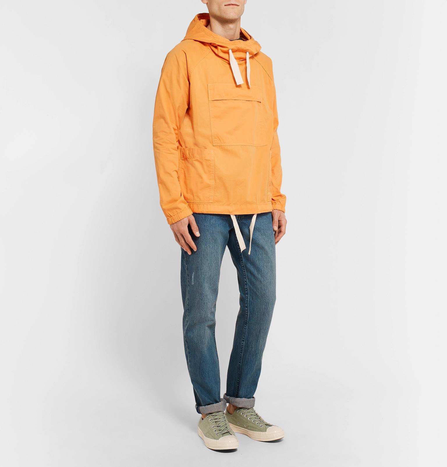 Jacket Hooded Orange Cotton Twill View Fullscreen Men Lyst Sailing Smock Albam For HgYfwRqw