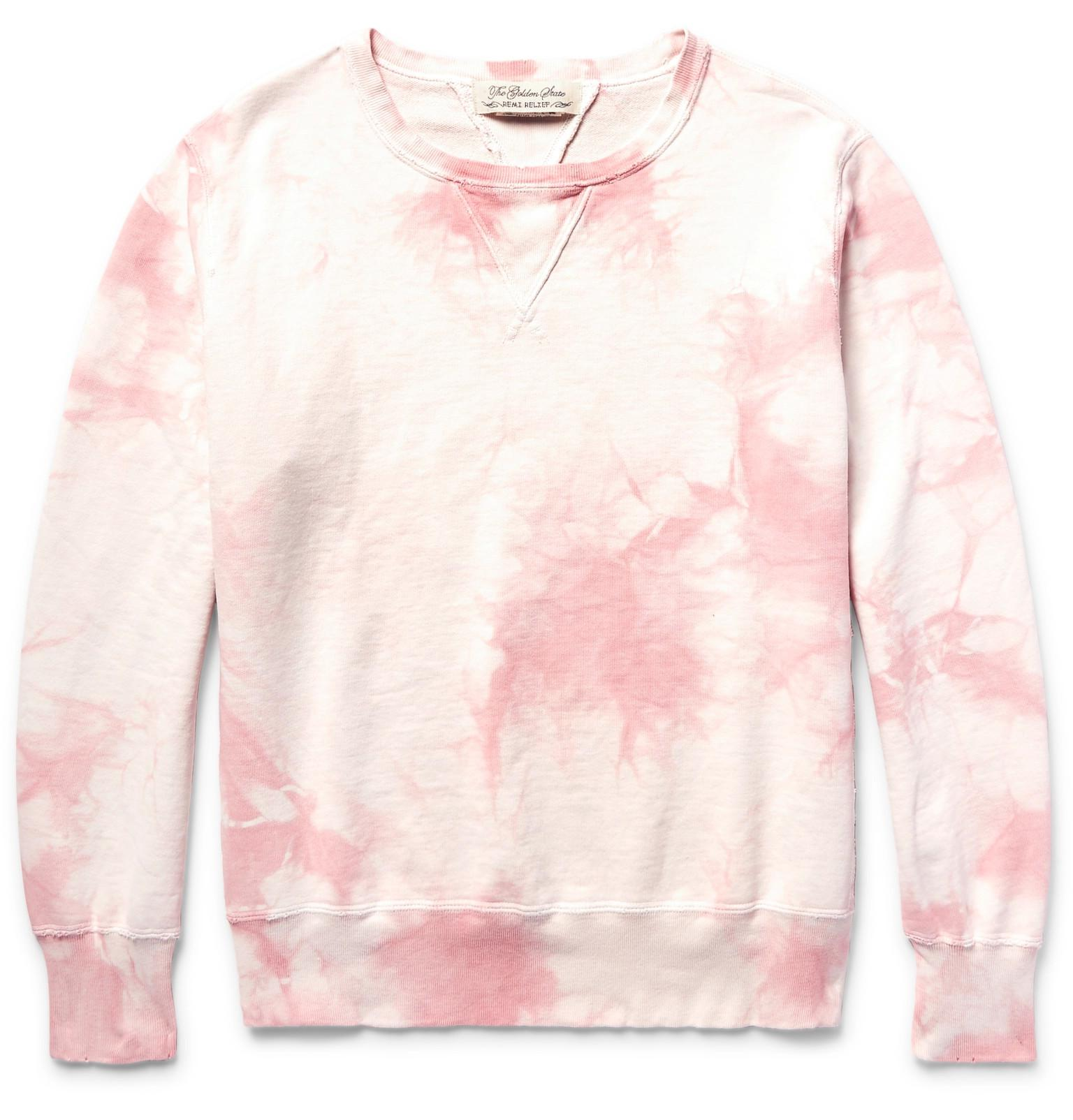 0fe25b73ba Remi Relief Distressed Tie-dyed Loopback Cotton-jersey Sweatshirt in ...