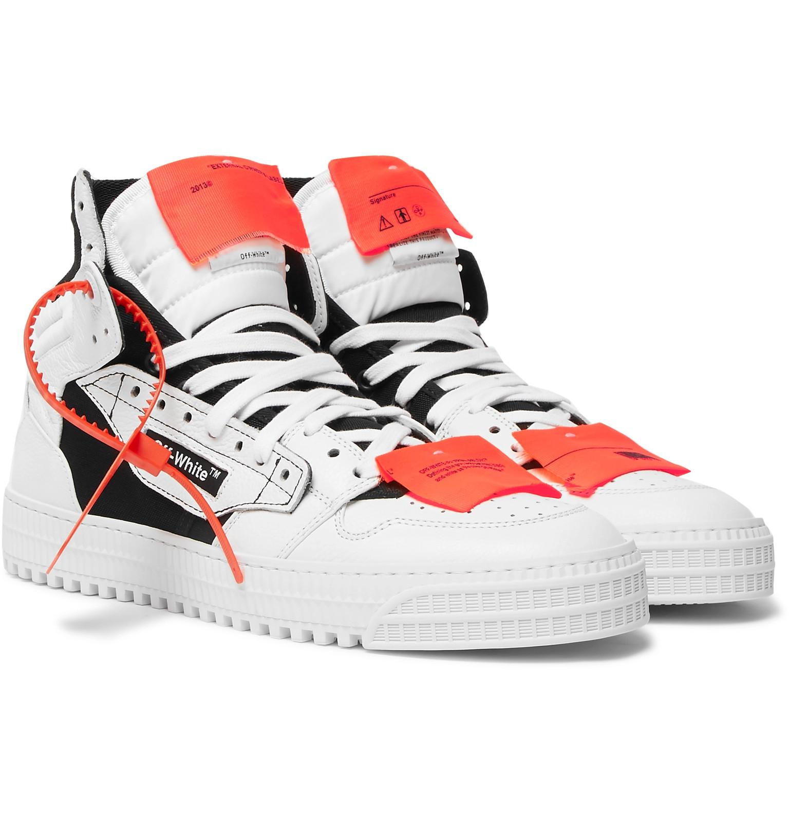 brand new 3b514 b9d90 Off-White c o Virgil Abloh 3.0 Off-court Leather, Canvas And Shell ...