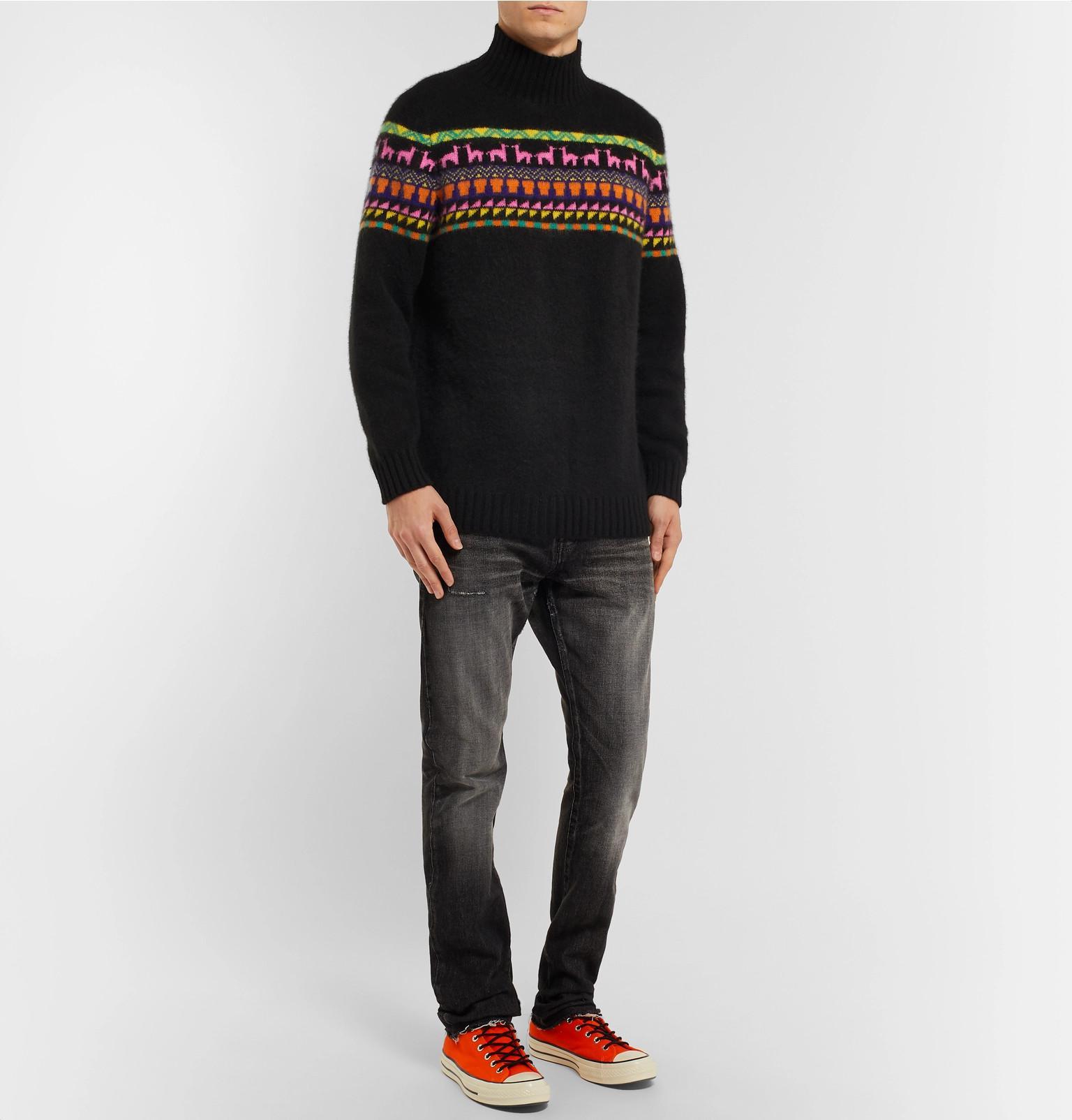 Elder Rollneck In Statesman The Sweater Intarsia Lyst Cashmere w5qRZaC