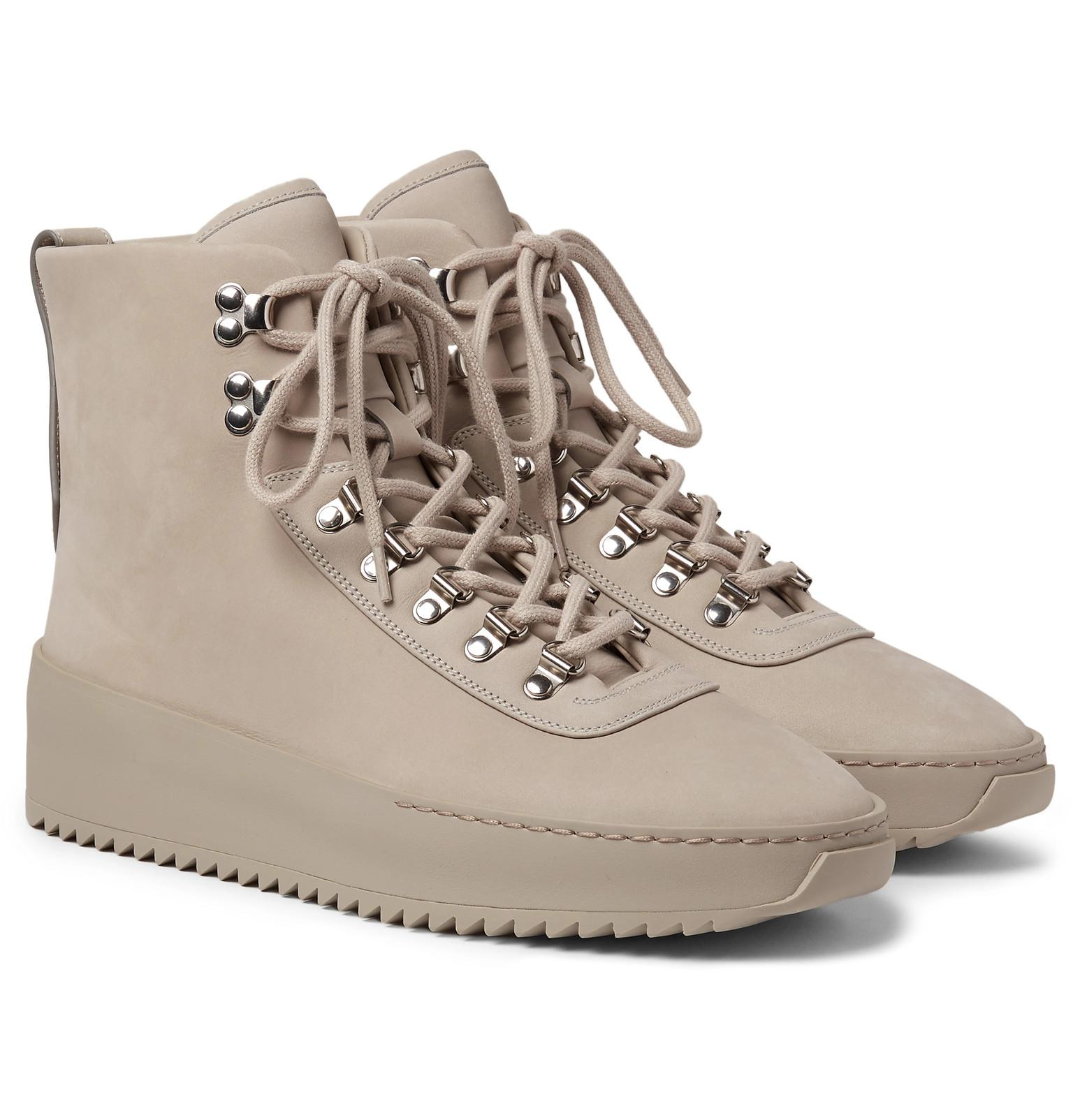FEAR OF GOD Nubuck High Top Sneakers