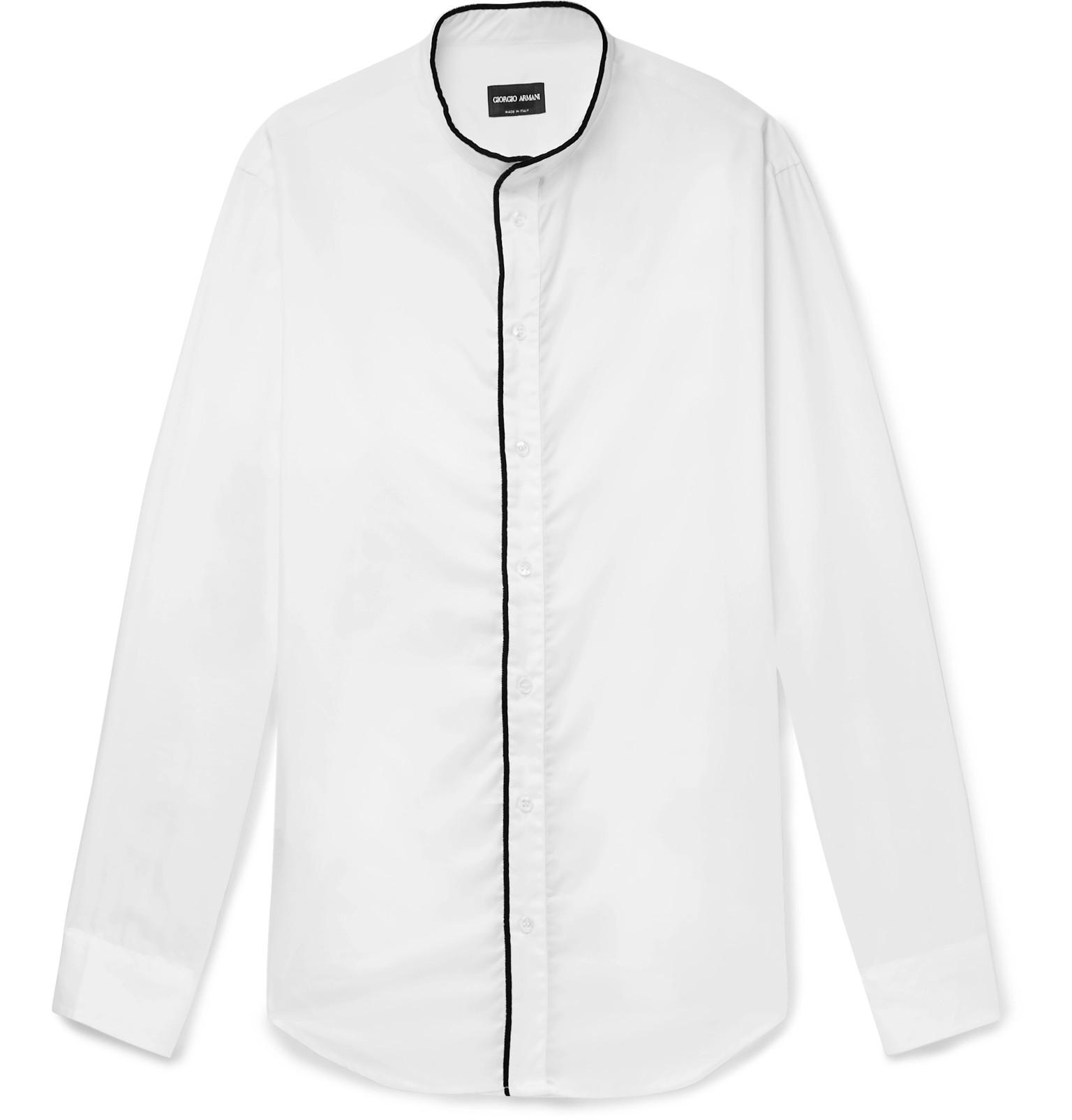 87dab8d9362 giorgio-armani-white-Slim-fit-Grandad-collar -Contrast-tipped-Cotton-Shirt.jpeg