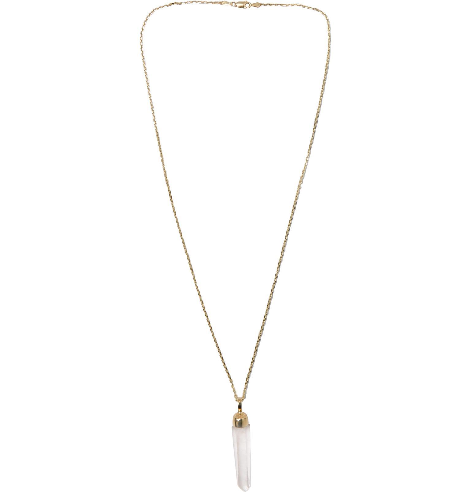 Luis Morais 14-karat Gold Crystal Necklace - Gold SBv9pVJX