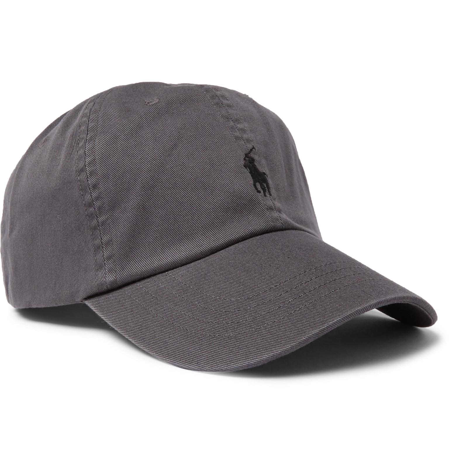 9d6bbeb9a6c Lyst - Polo Ralph Lauren Cotton-twill Baseball Cap in Gray for Men