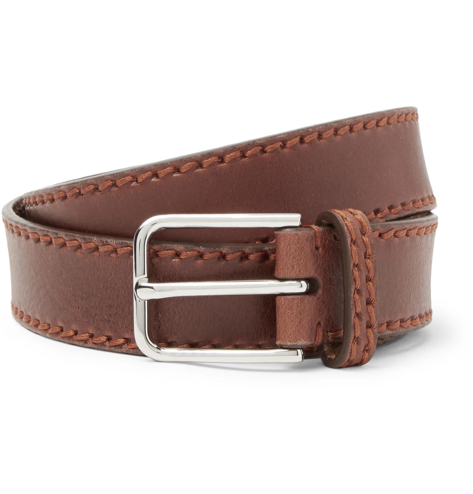 + Jean Shop Statesman 4cm Brown Leather Western Belt Kingsman hMwxP