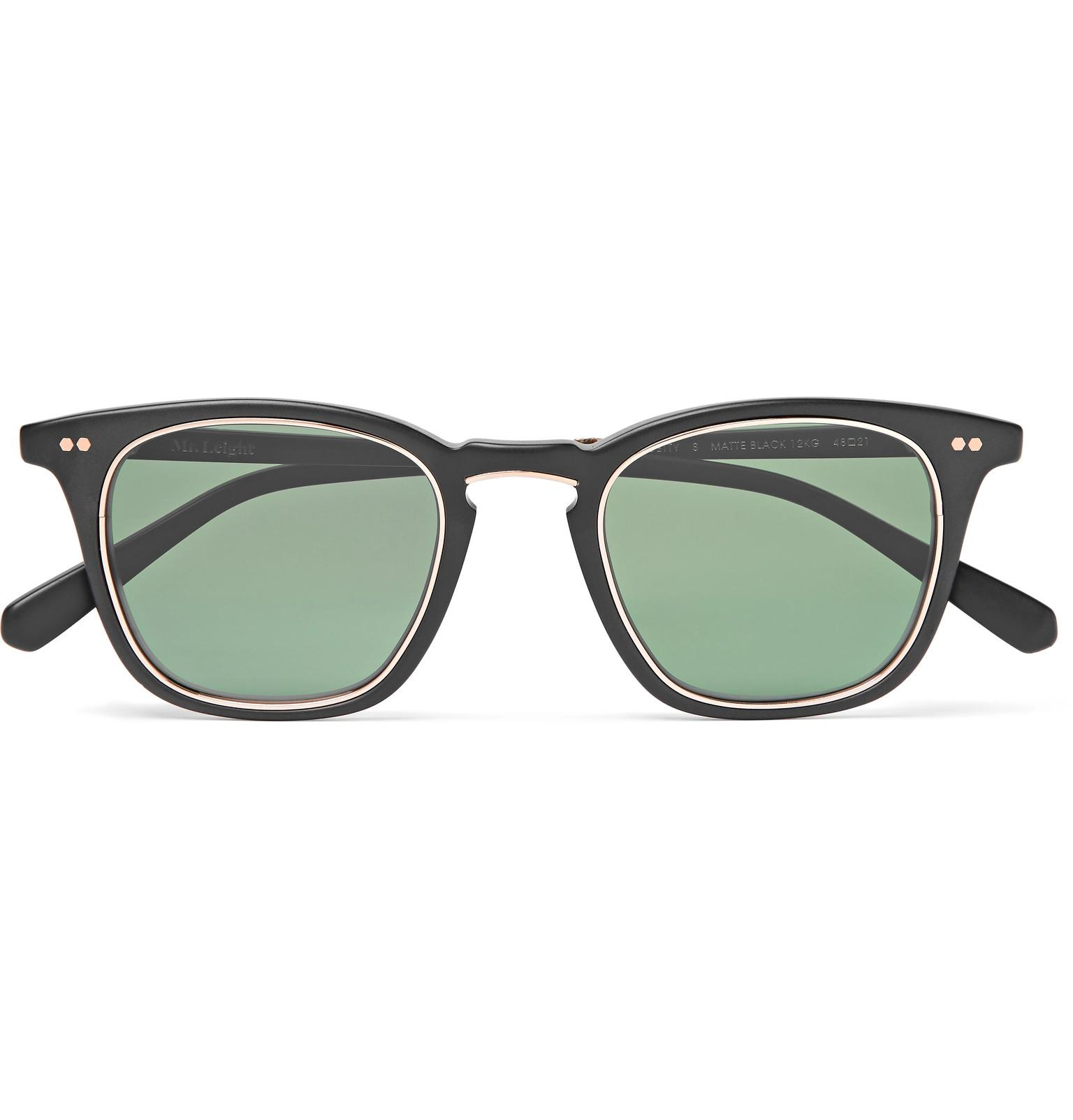 ac52359355659 Mr. Leight Getty S Square-frame Acetate Sunglasses in Black for Men ...