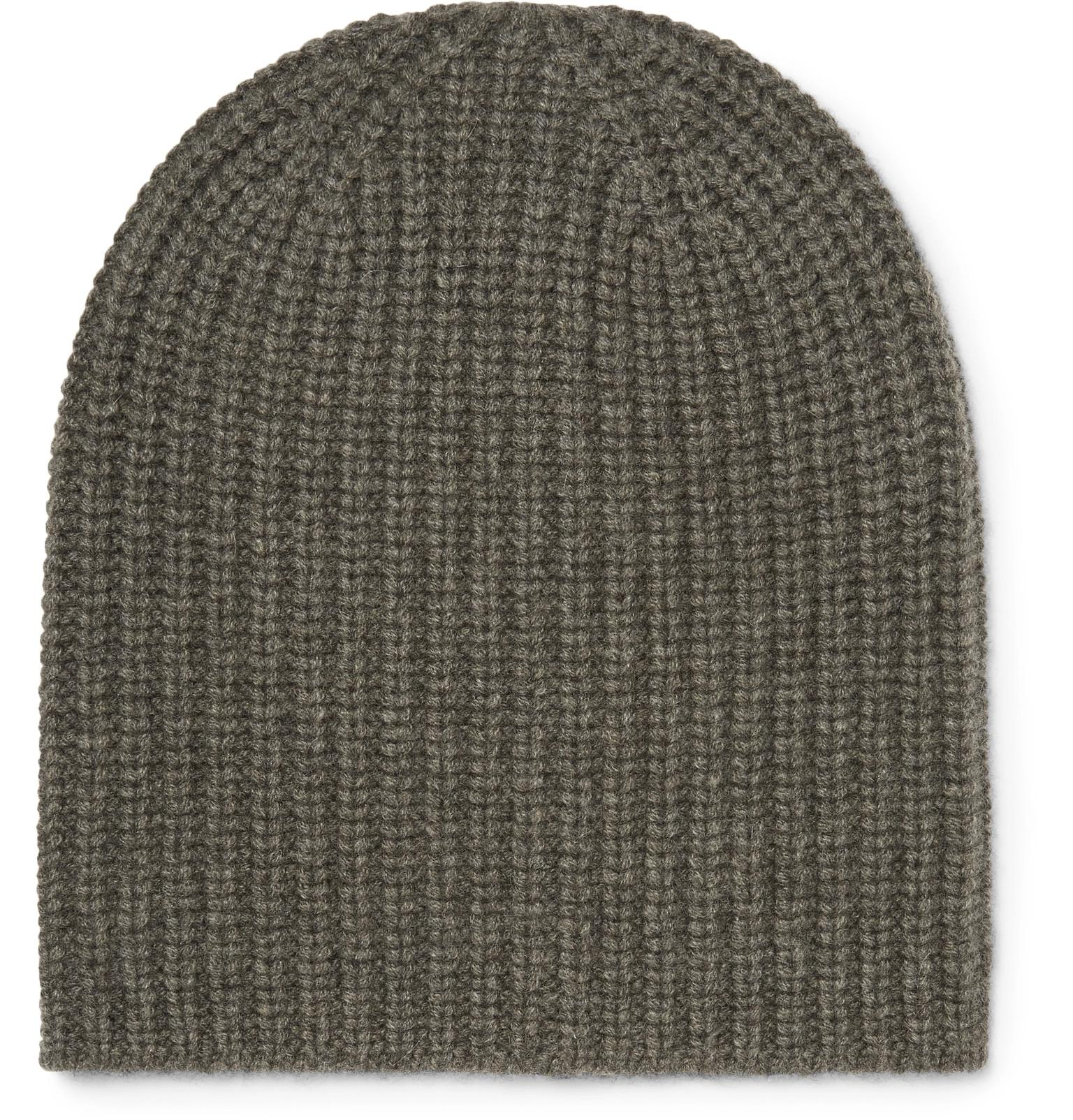 a807618d880 Alex Mill Ribbed Cashmere Beanie in Green for Men - Lyst