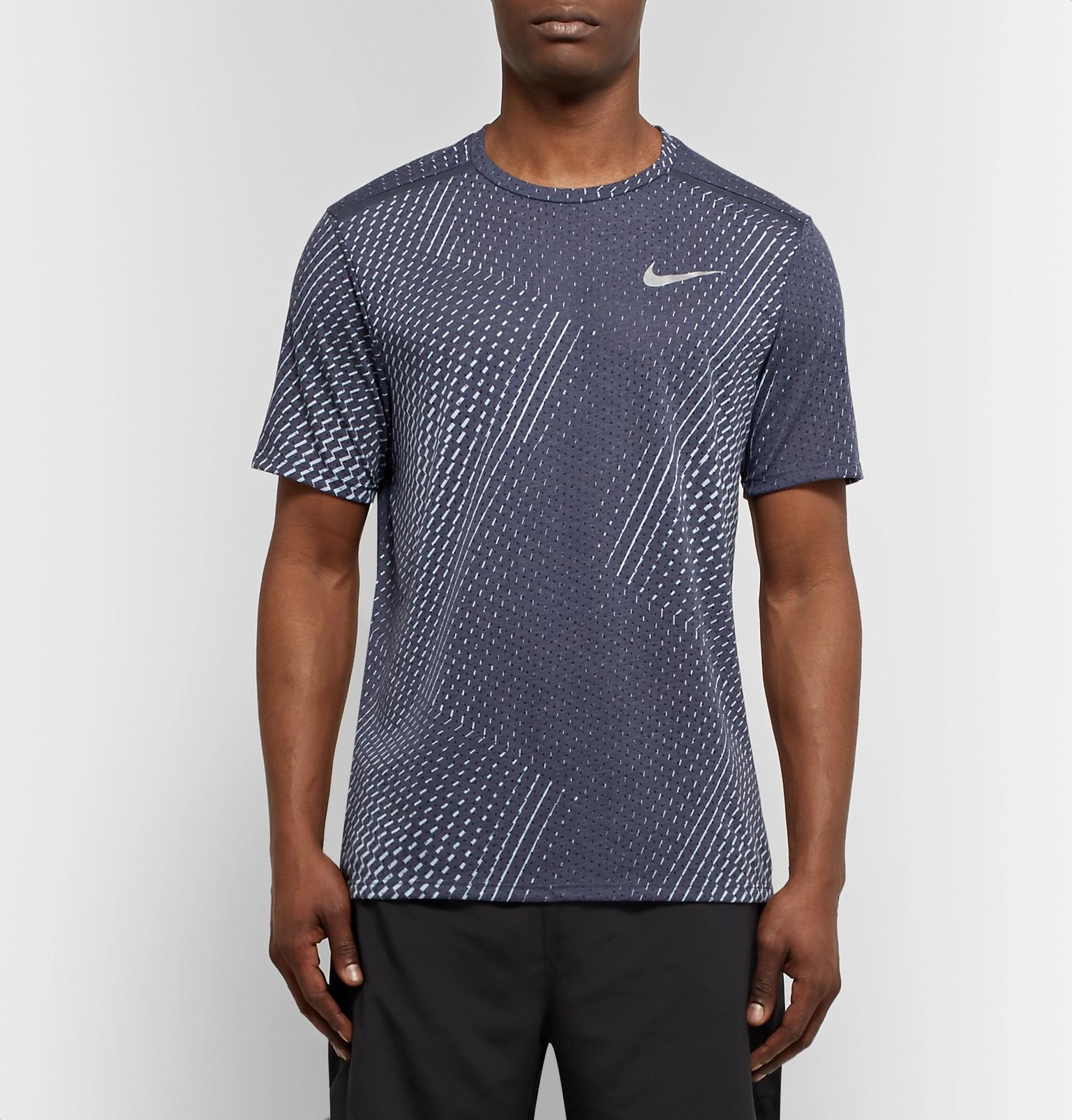 82bedaa509e7 Lyst - Nike Rise 365 Dri-fit Mesh T-shirt in Gray for Men