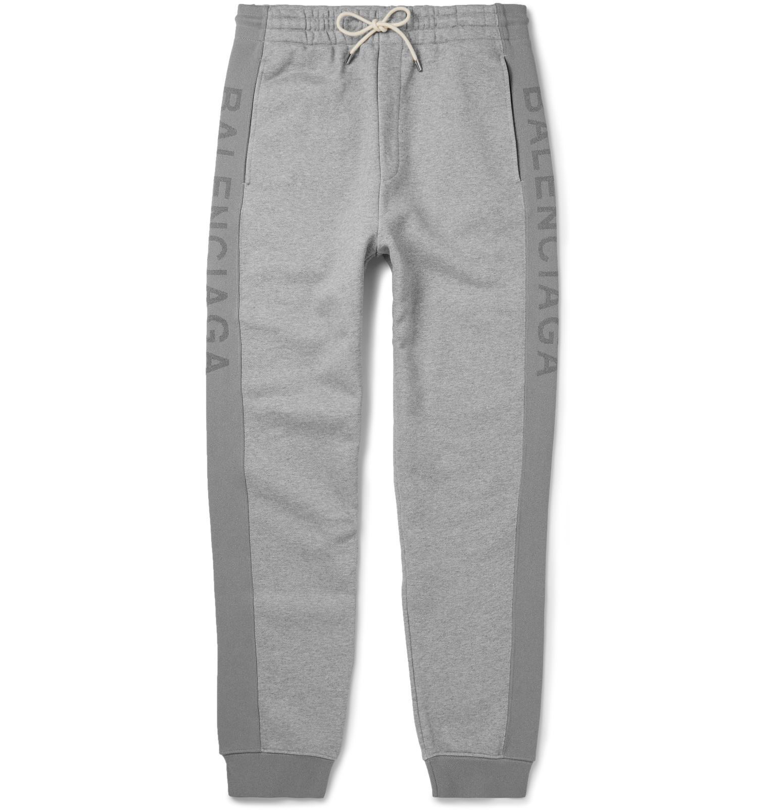 e2b7f1e060 Balenciaga Slim-fit Tapered Fleece-back Cotton-jersey Sweatpants in ...