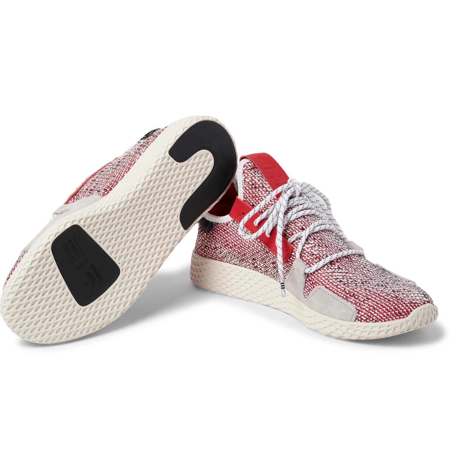 14e68b33d Adidas Originals - Red + Pharrell Williams Solarhu V2 Primeknit Sneakers  for Men - Lyst. View fullscreen
