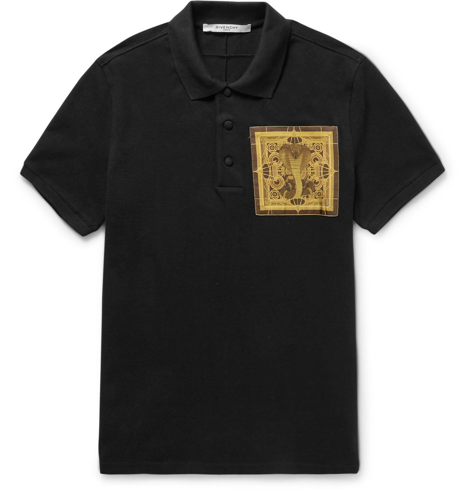 Givenchy Slim Fit Cobra Appliqu D Cotton Piqu Polo Shirt
