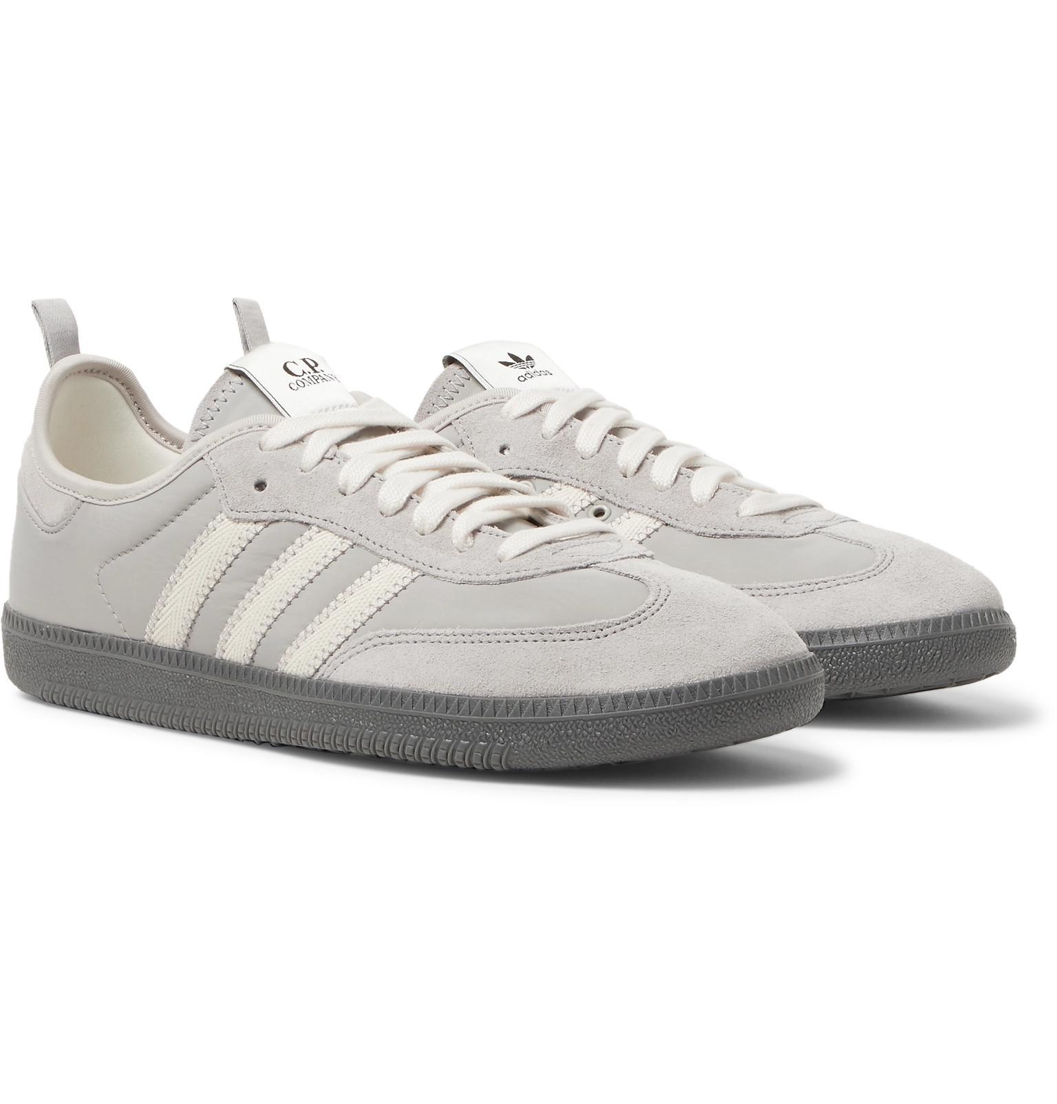 separation shoes a9294 132e3 adidas Originals + C.p. Company Samba Suede-trimmed Nylon Sneakers ...