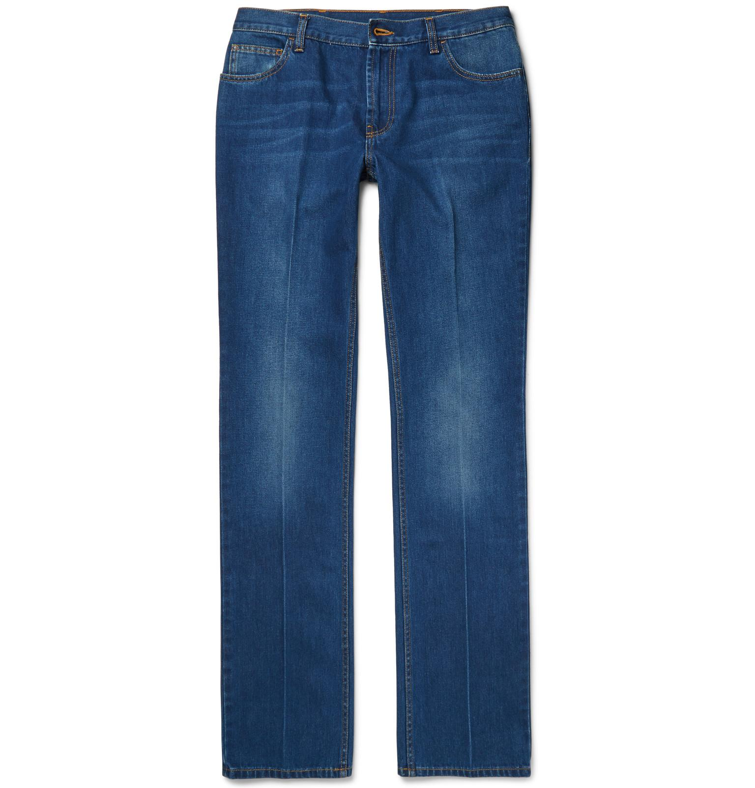 Gucci Bootcut Washed-denim Jeans in Blue for Men | Lyst