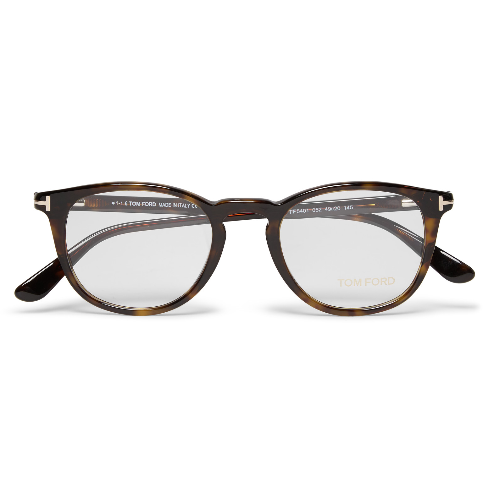 6f3a75edc55 Tom Ford Round-frame Tortoiseshell Acetate Optical Glasses in Brown ...