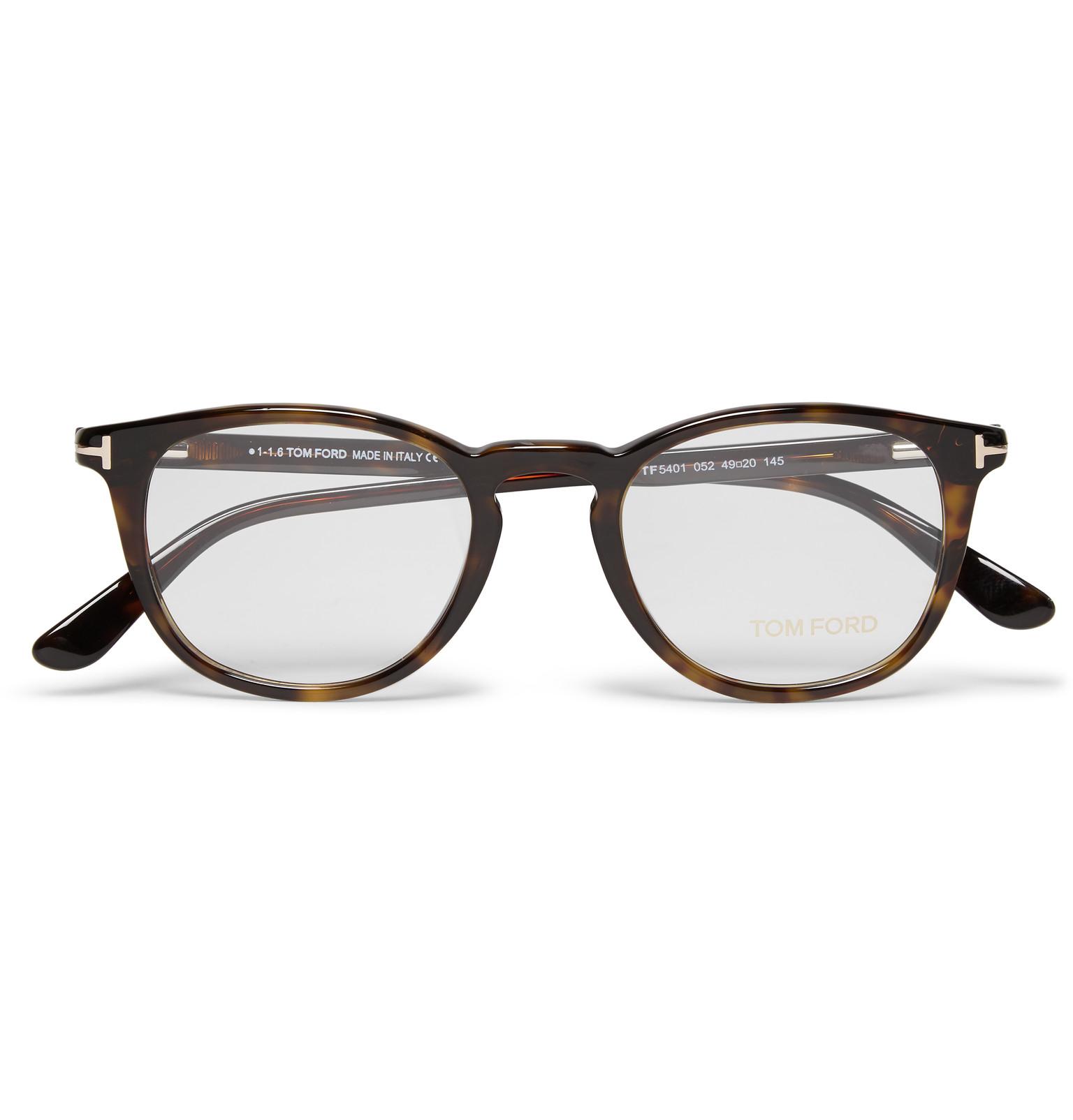 093f41c9b8 Tom Ford Round-frame Tortoiseshell Acetate Optical Glasses in Brown ...
