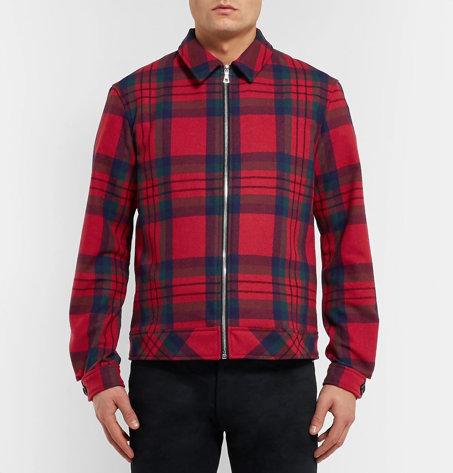 Lyst Blouson Flannel Men In Red John For Zip Elliott w8q8at