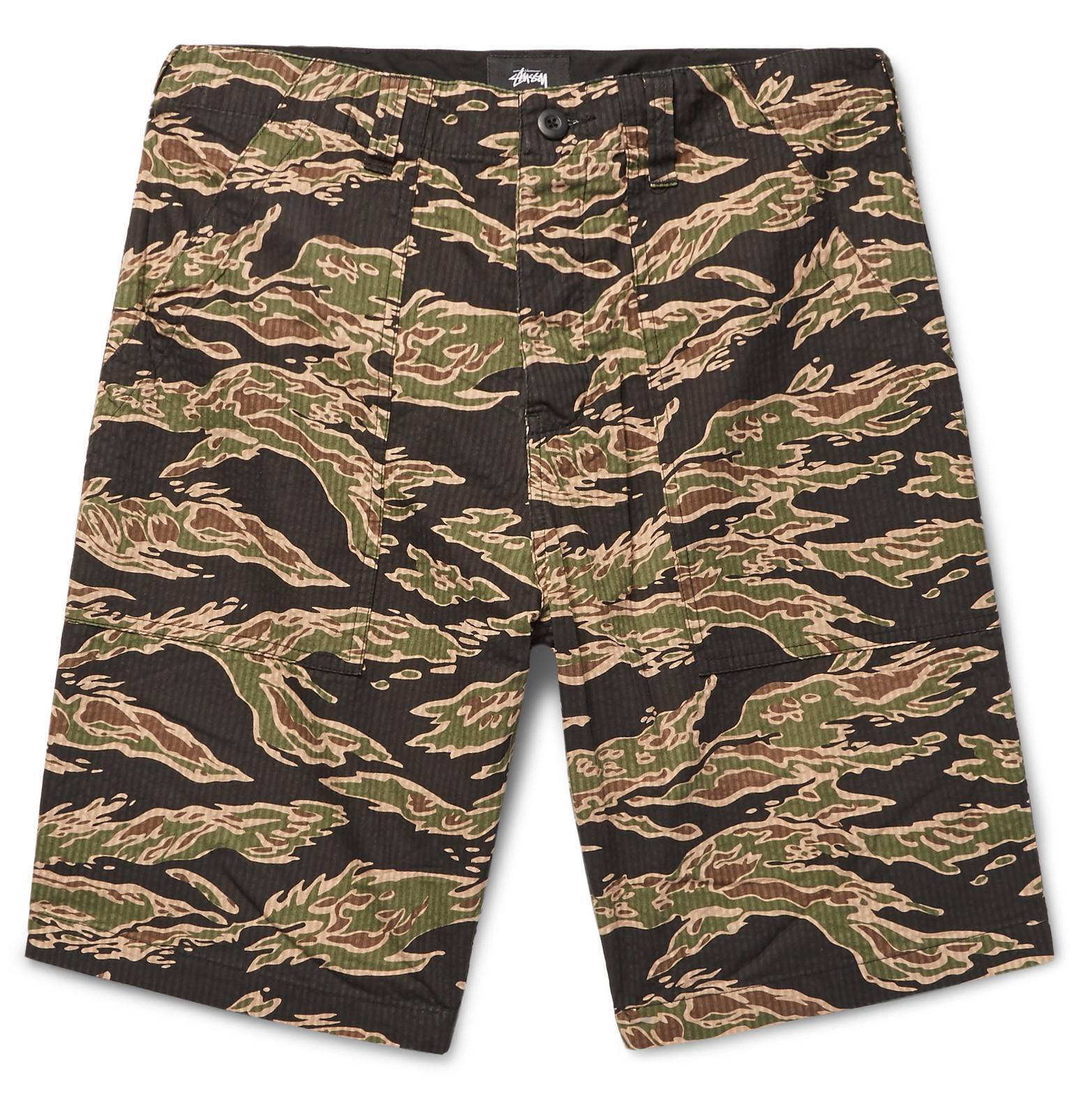 STUSSY Camouflage-print Shell Shorts - Green MUST2TNot
