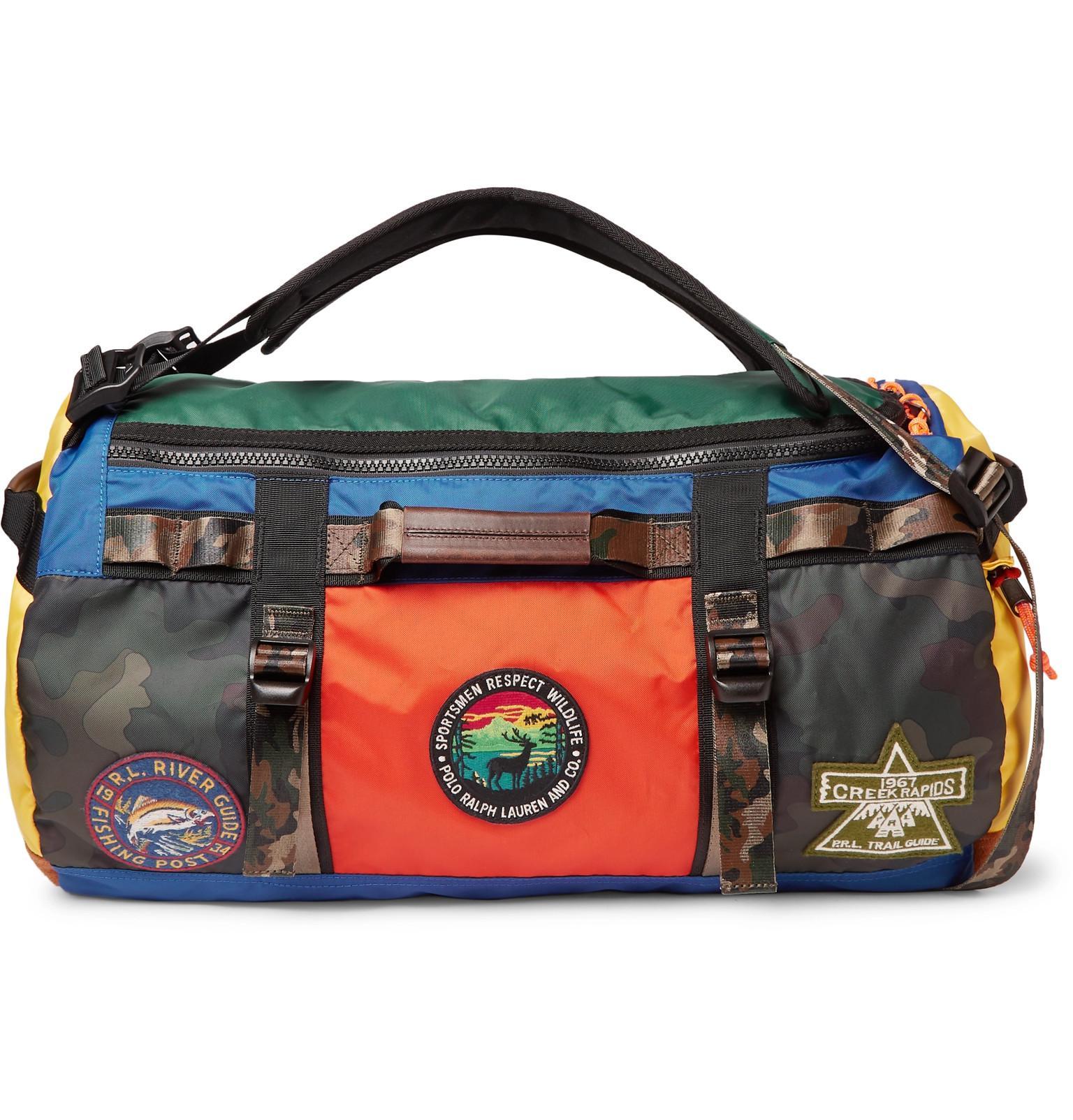 804f77855b4 Polo Ralph Lauren Appliquéd Colour-block Nylon Duffle Bag in Blue ...