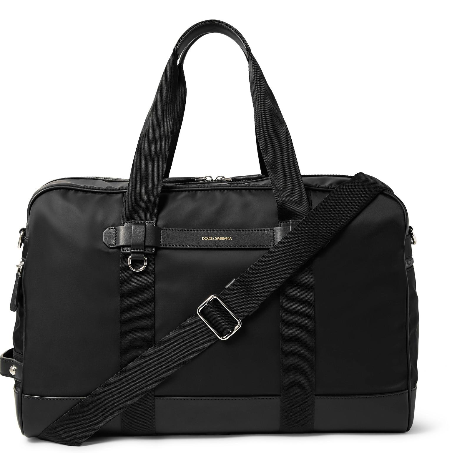 13da38f7cff4 Lyst - Dolce   Gabbana Leather-trimmed Nylon Holdall in Black for Men