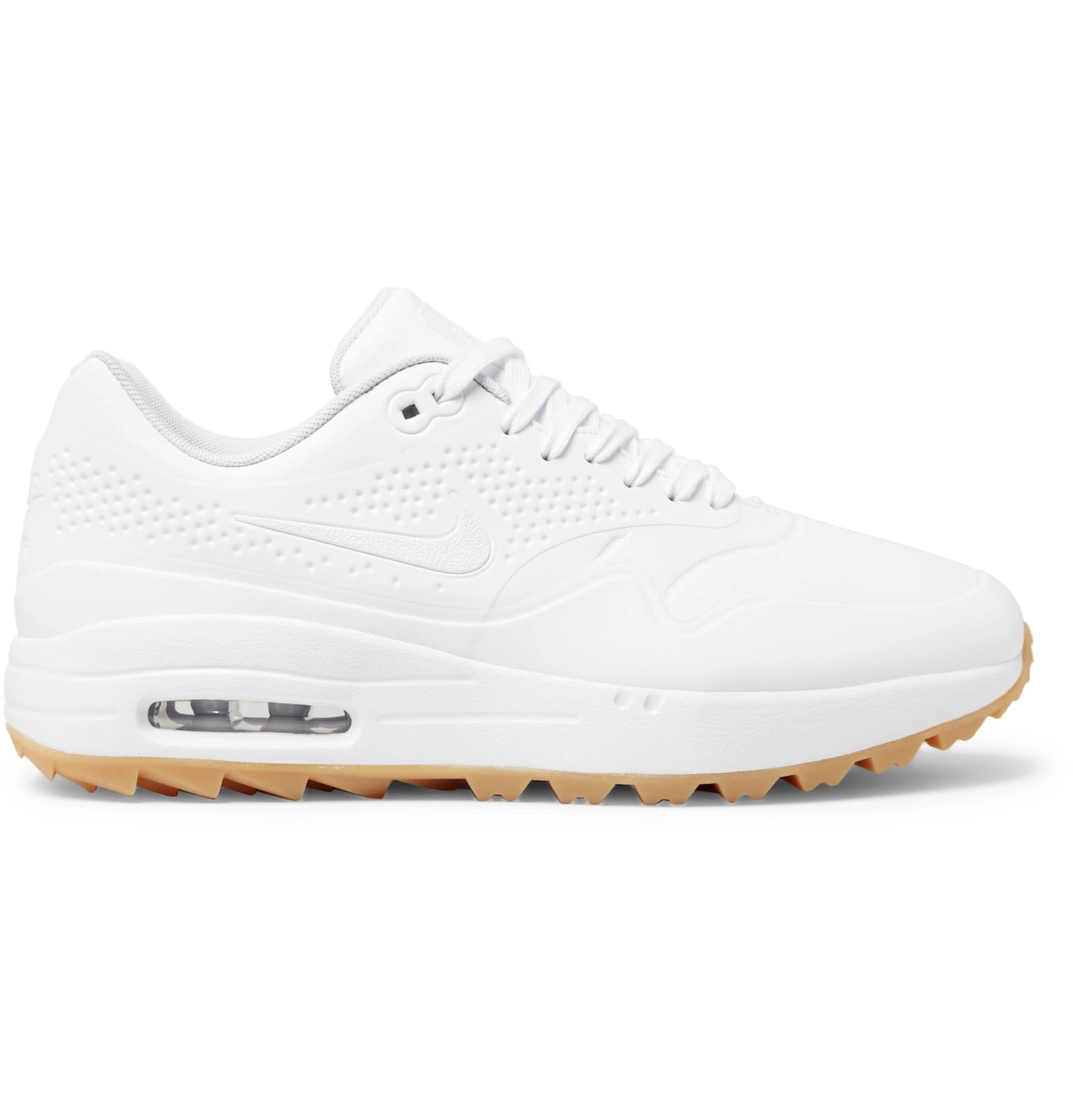 sports shoes 417fa c6b2a Nike. Men s White Air Max 1g Coated Mesh Golf Shoes
