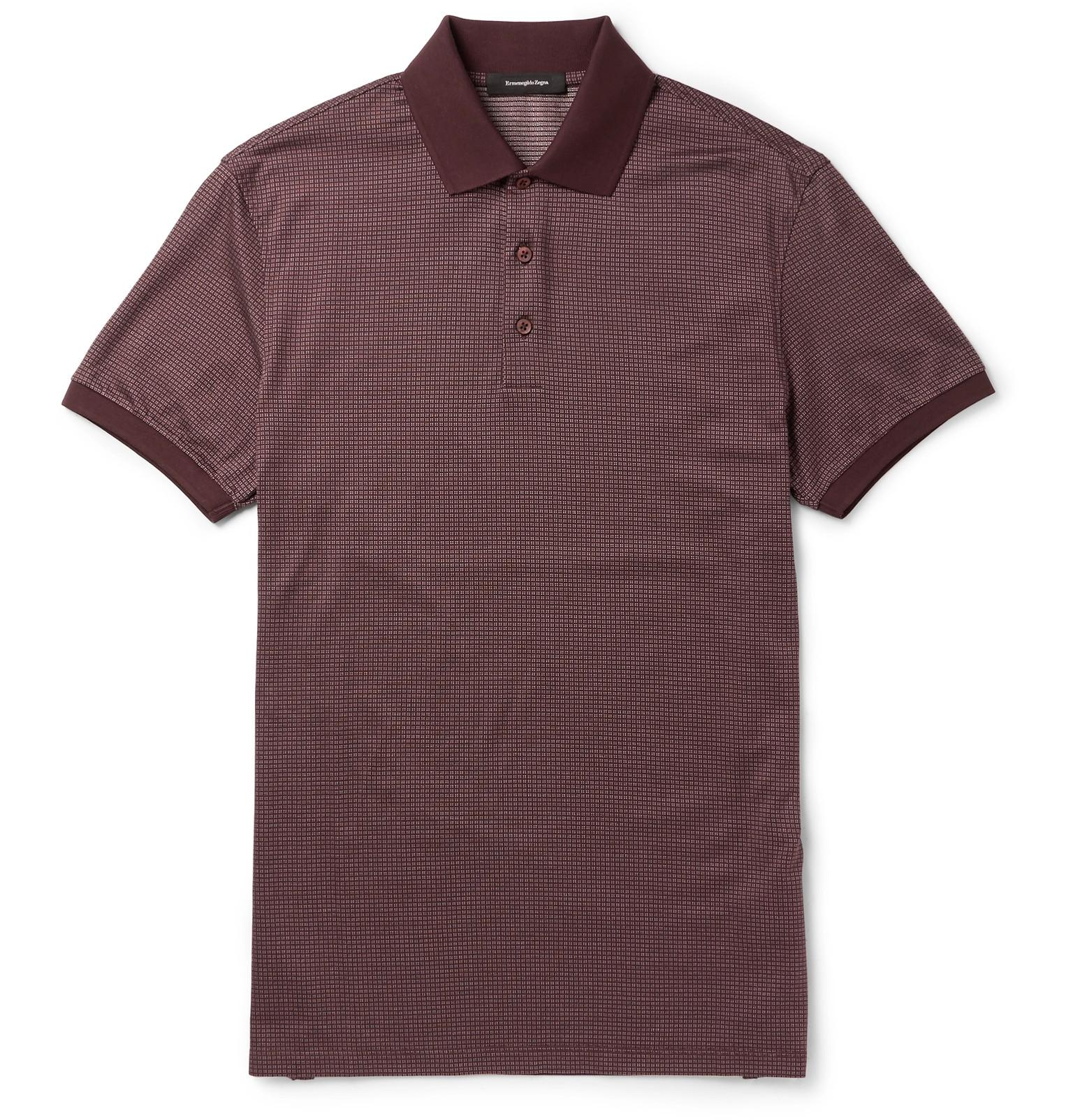 Ermenegildo Zegna Slim Fit Cotton And Silk Blend Polo