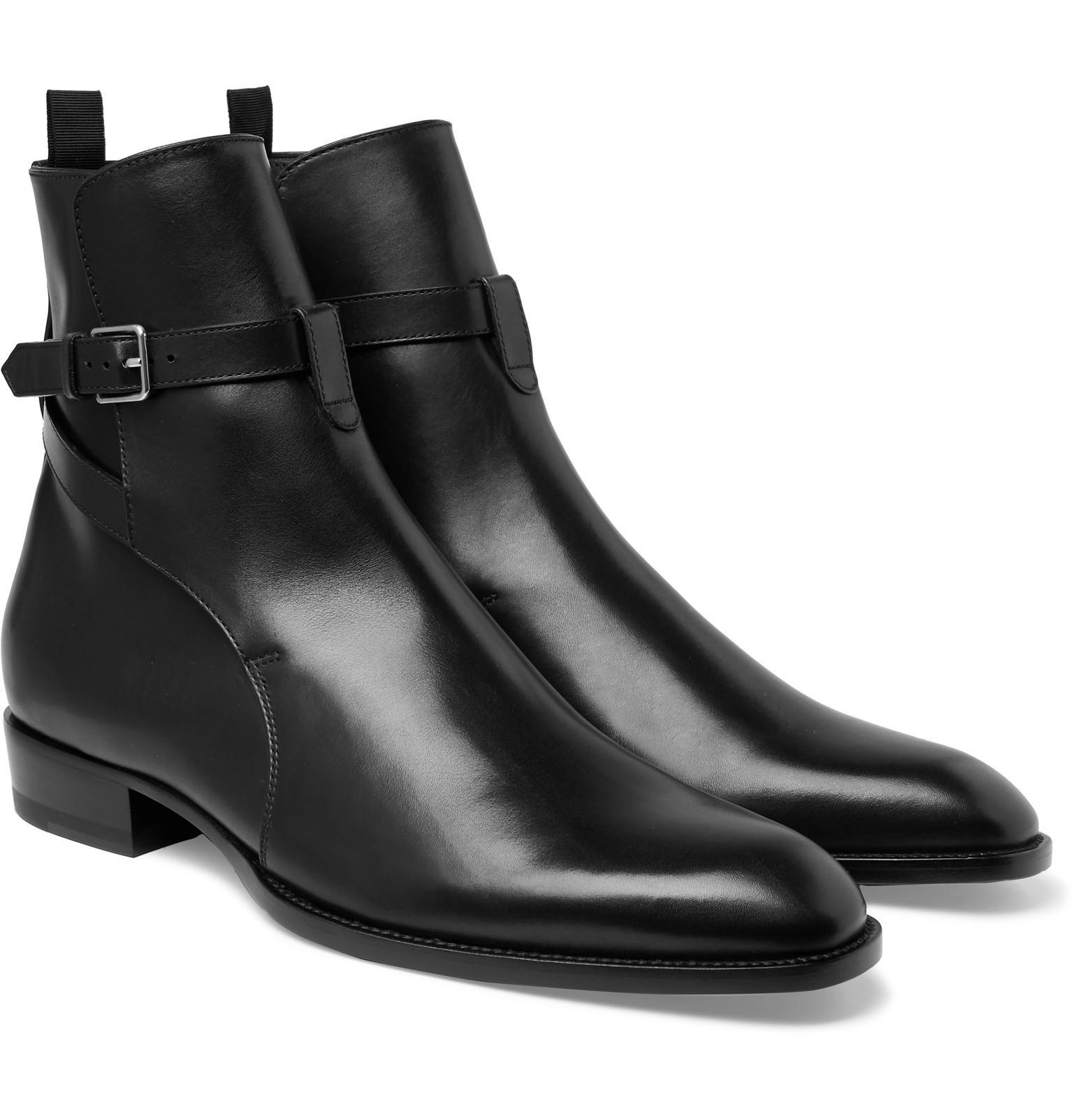Saint Laurent Leather Jodhpur Boots cheap price free shipping dQBMI0