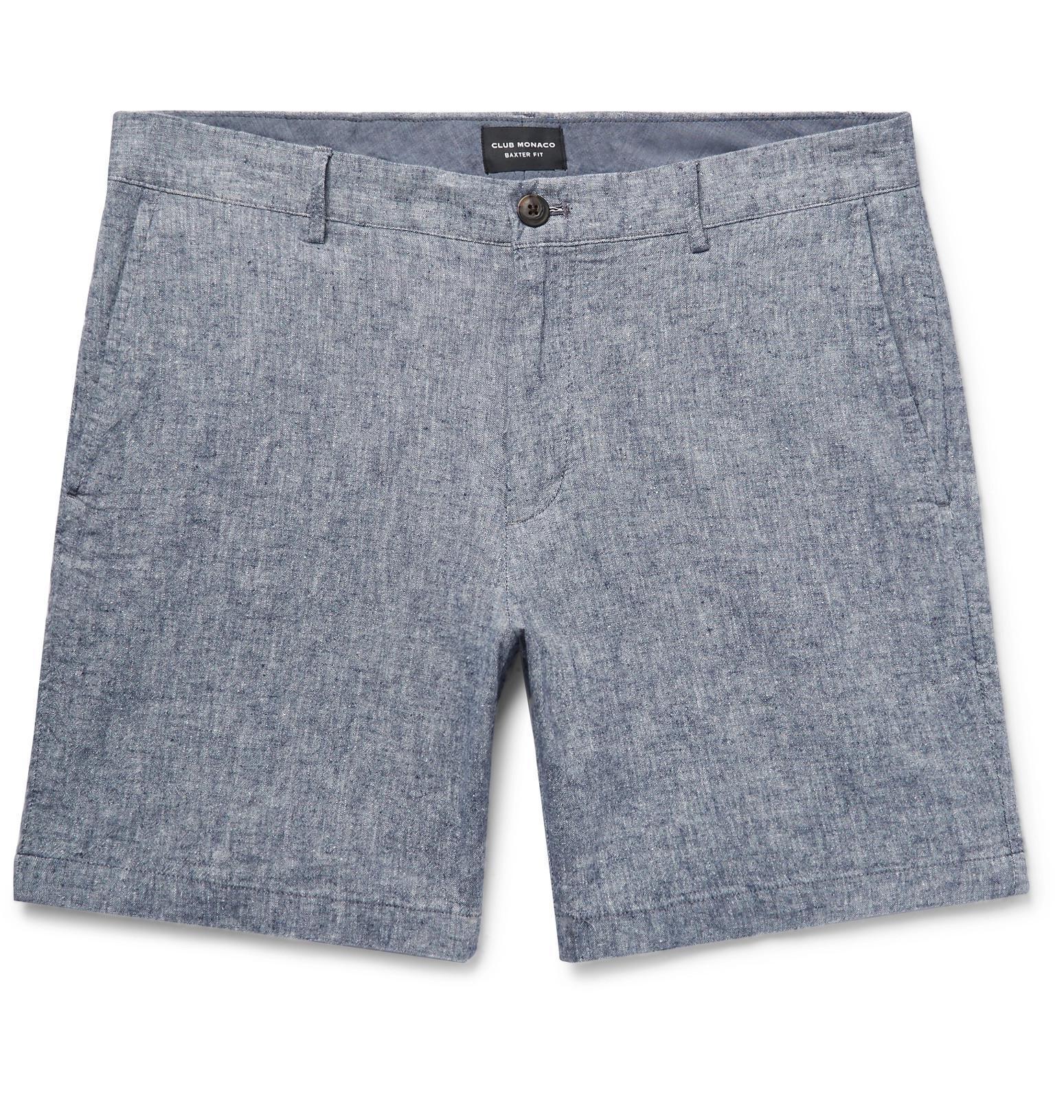 Baxter Slim-fit Stretch-cotton Twill Shorts Club Monaco zcFw5pH