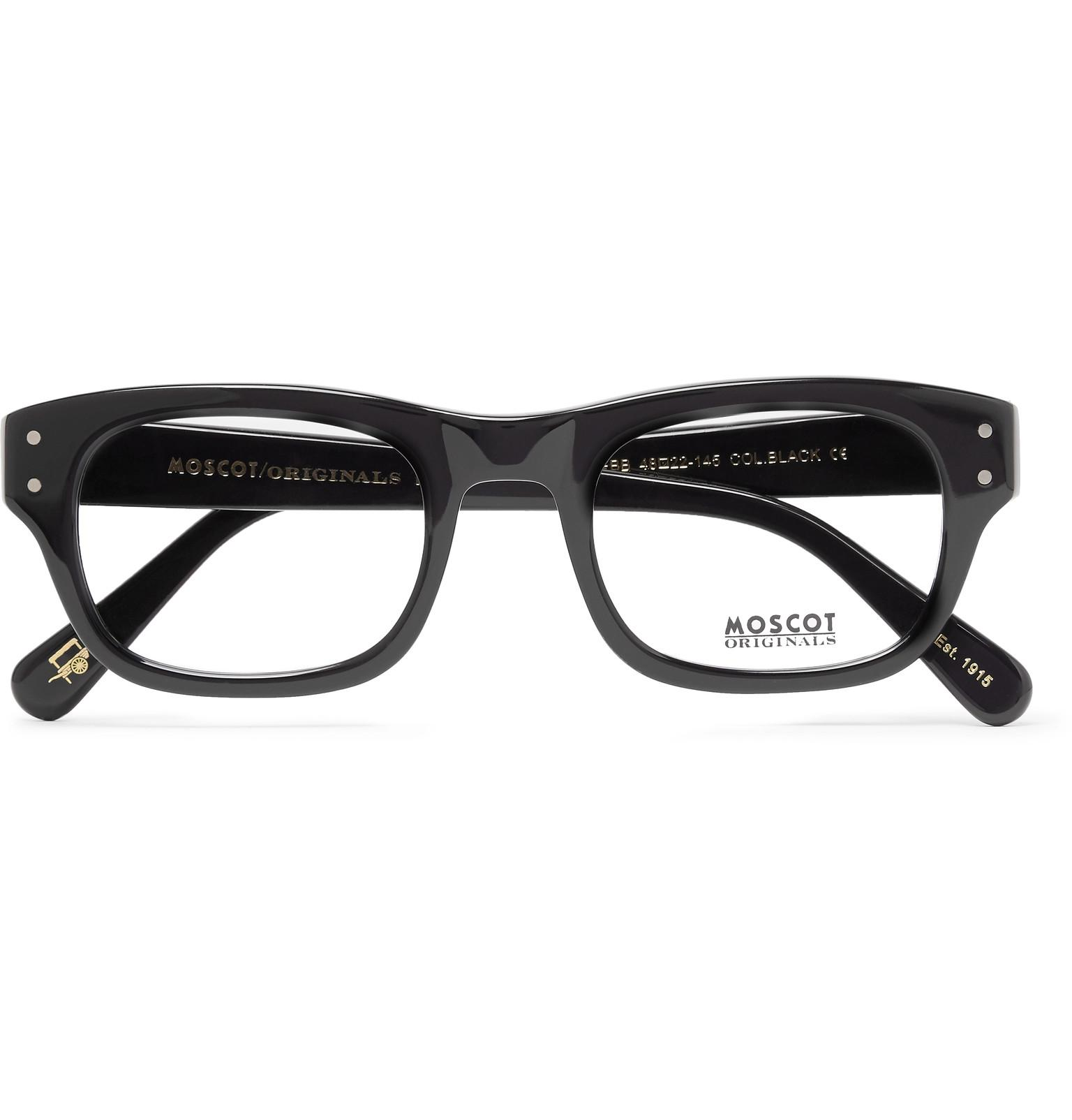 437fe09a1923 Lyst - Moscot Nebb Square-frame Acetate Optical Glasses in Black for Men
